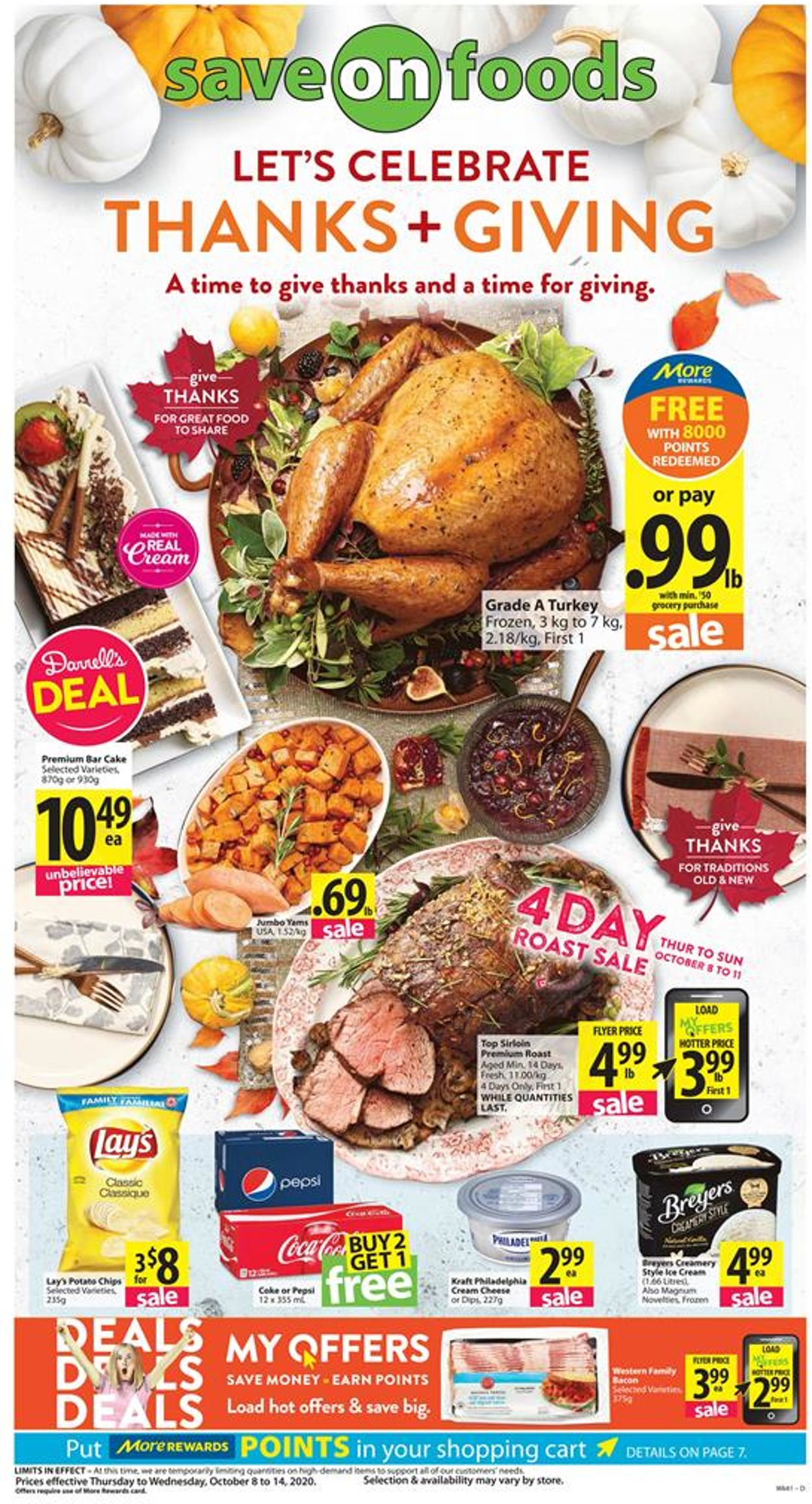 Save-On-Foods Flyer - 10/08-10/14/2020