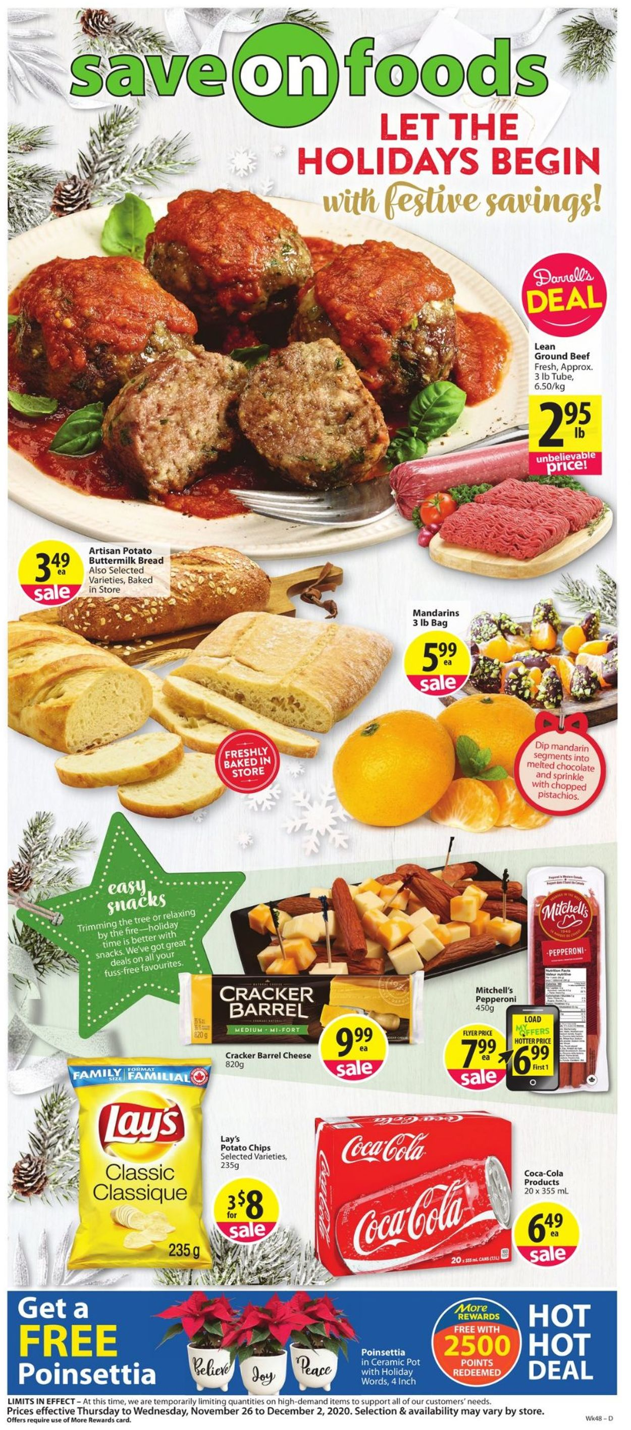 Save-On-Foods - Holiday 2020 Flyer - 11/26-12/02/2020