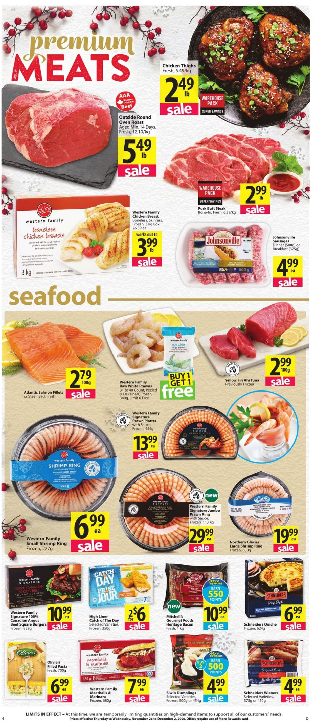 Save-On-Foods - Holiday 2020 Flyer - 11/26-12/02/2020 (Page 4)