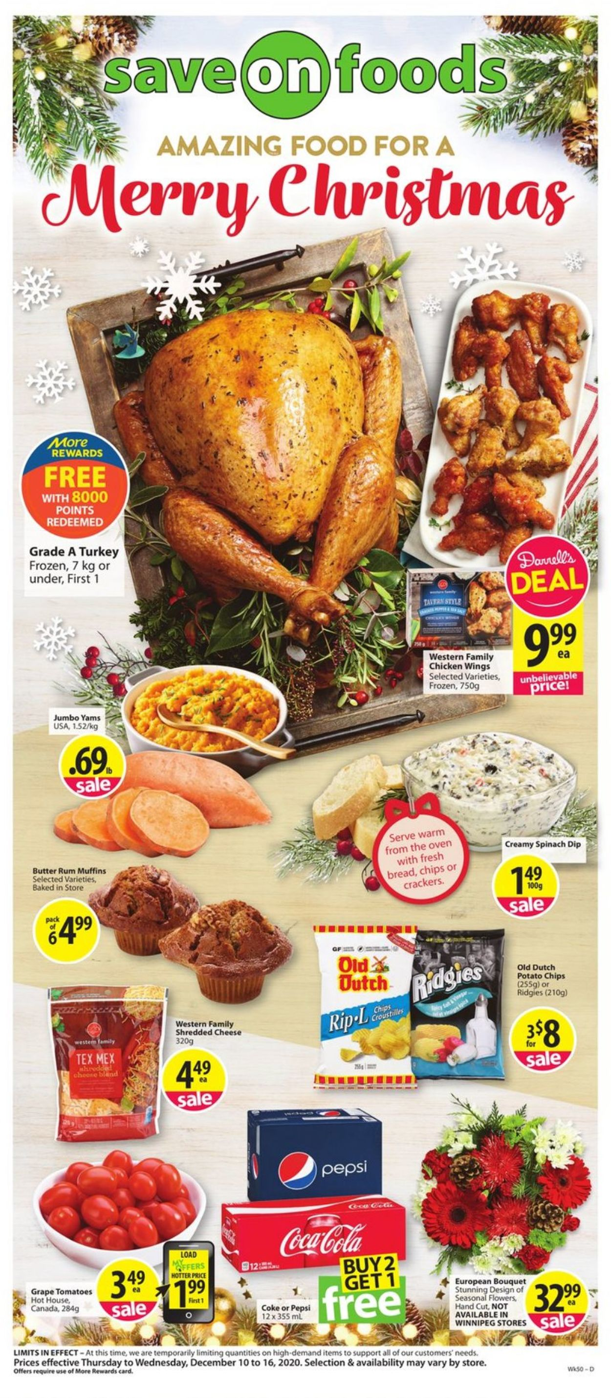 Save-On-Foods - Holiday 2020 Flyer - 12/10-12/16/2020