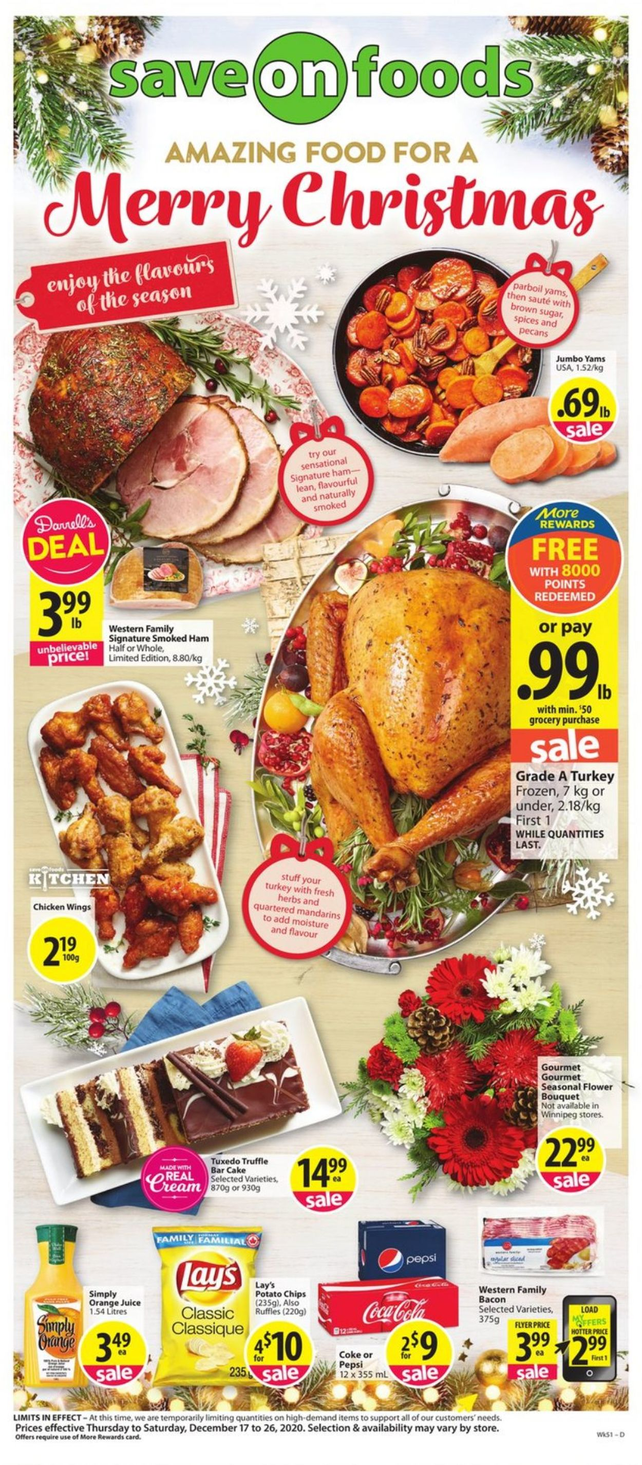 Save-On-Foods - Holiday 2020 Flyer - 12/17-12/26/2020