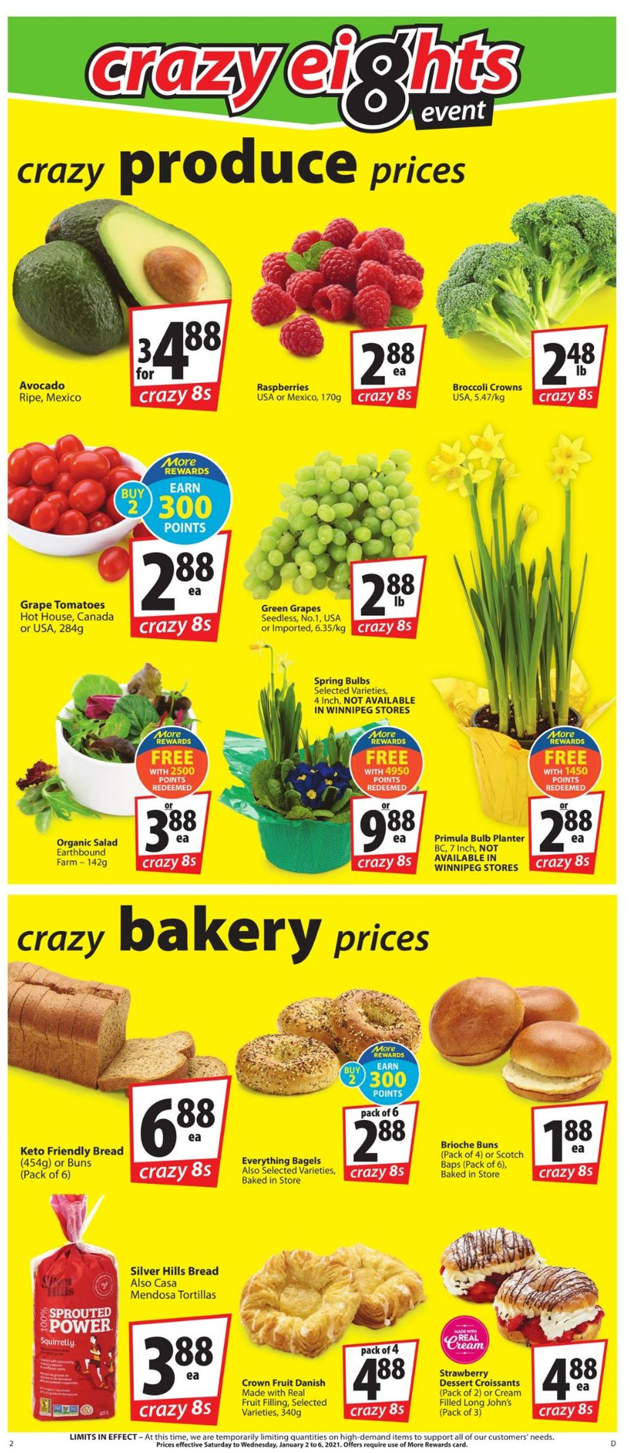 Save-On-Foods - Crazy Eigths 2021 Flyer - 01/02-01/06/2021 (Page 2)