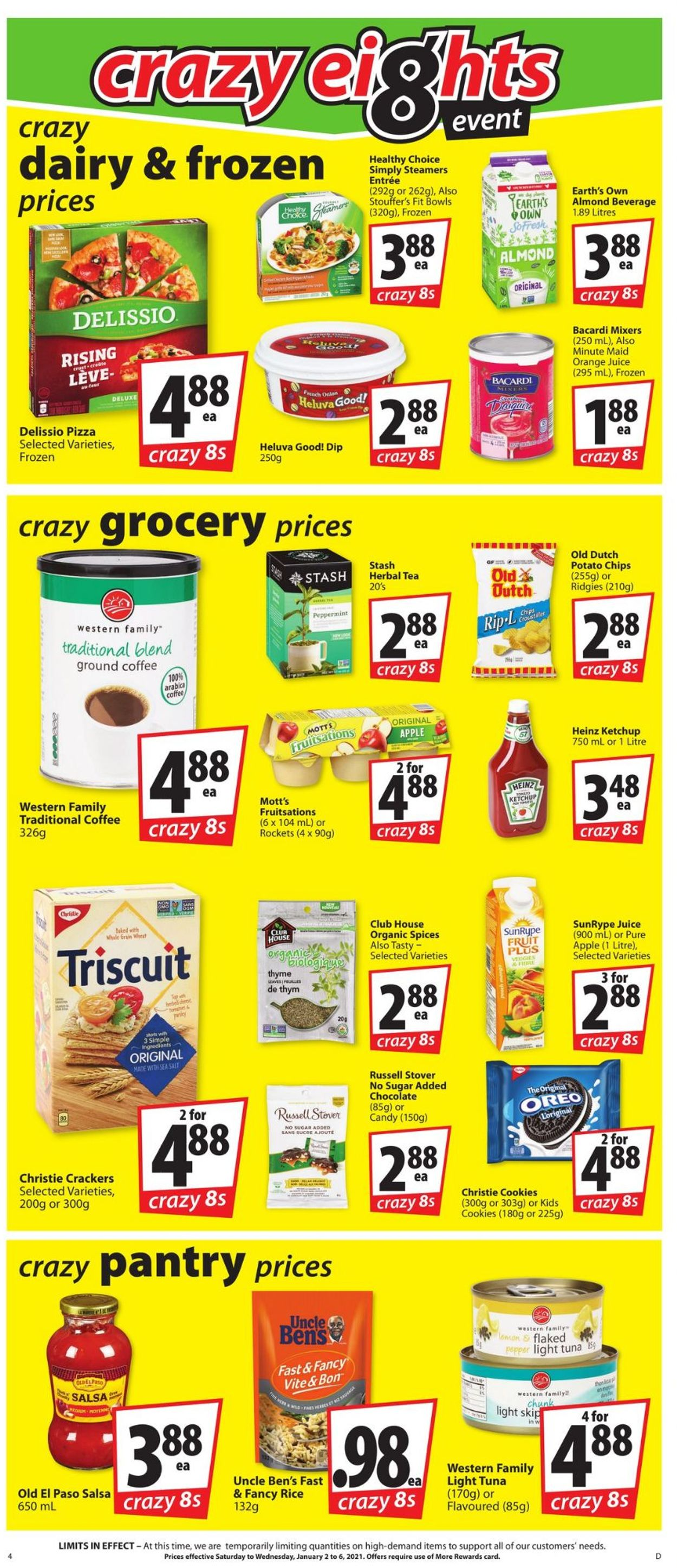 Save-On-Foods - Crazy Eigths 2021 Flyer - 01/02-01/06/2021 (Page 4)