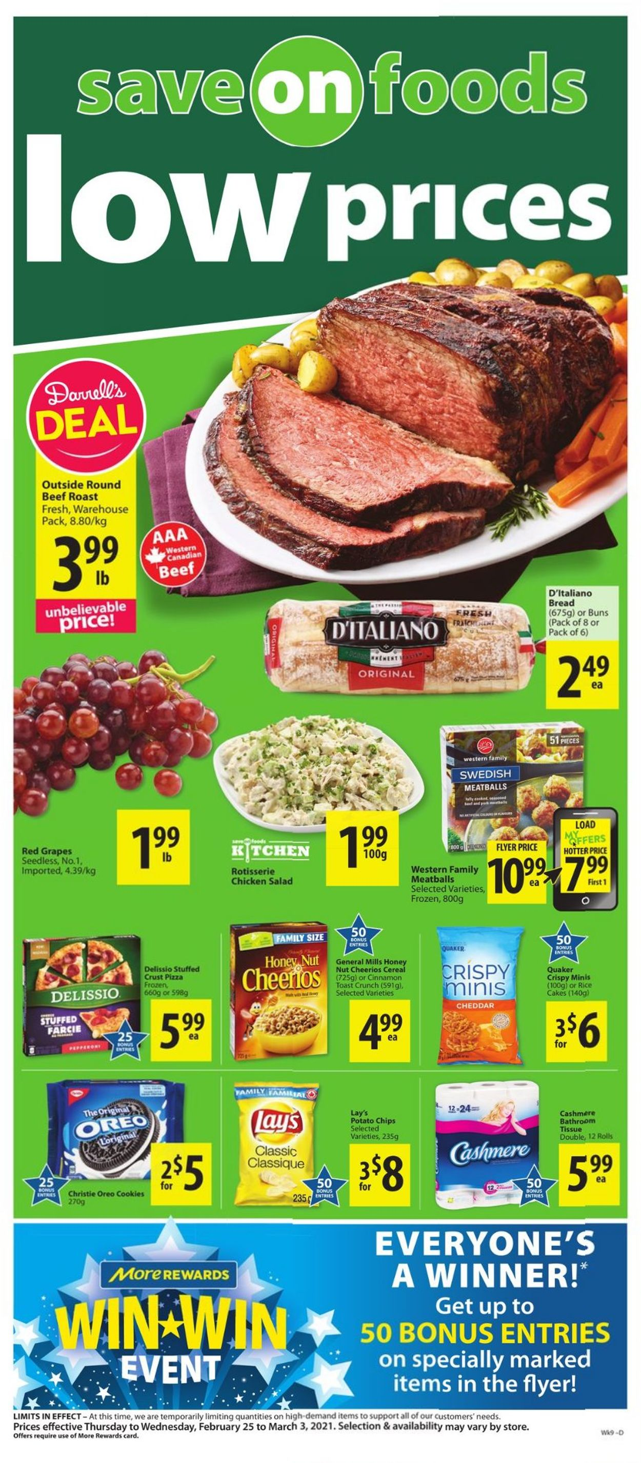Save-On-Foods Flyer - 02/25-03/03/2021