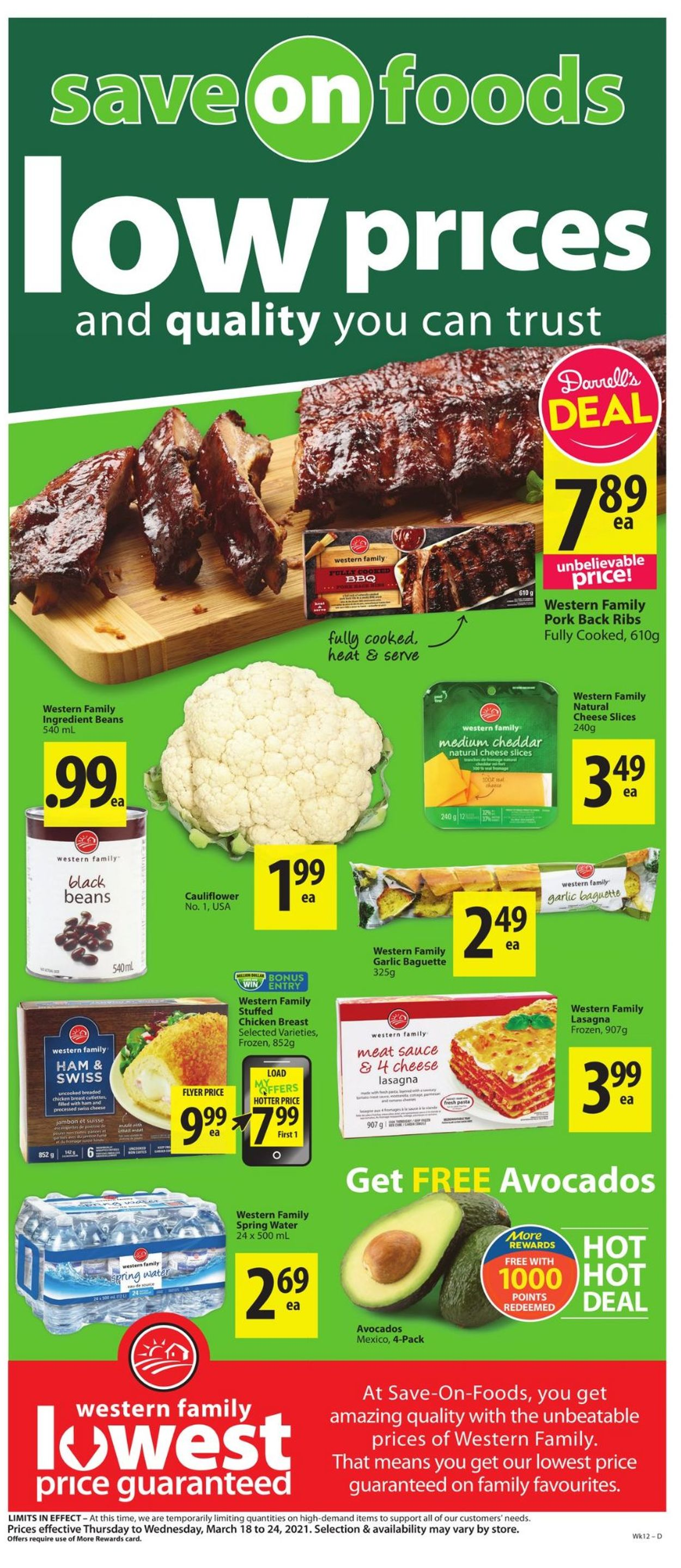 Save-On-Foods Flyer - 03/18-03/24/2021