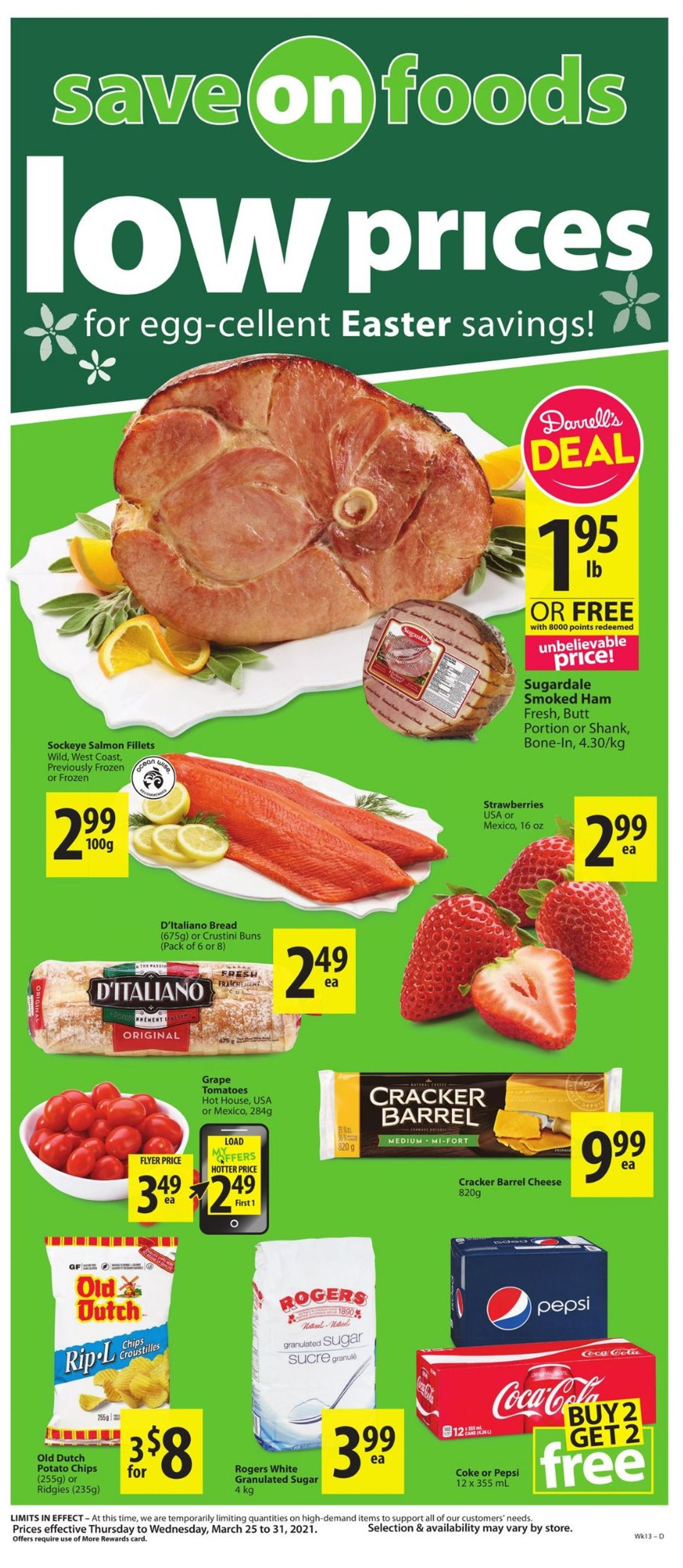 Save-On-Foods Flyer - 03/25-03/31/2021