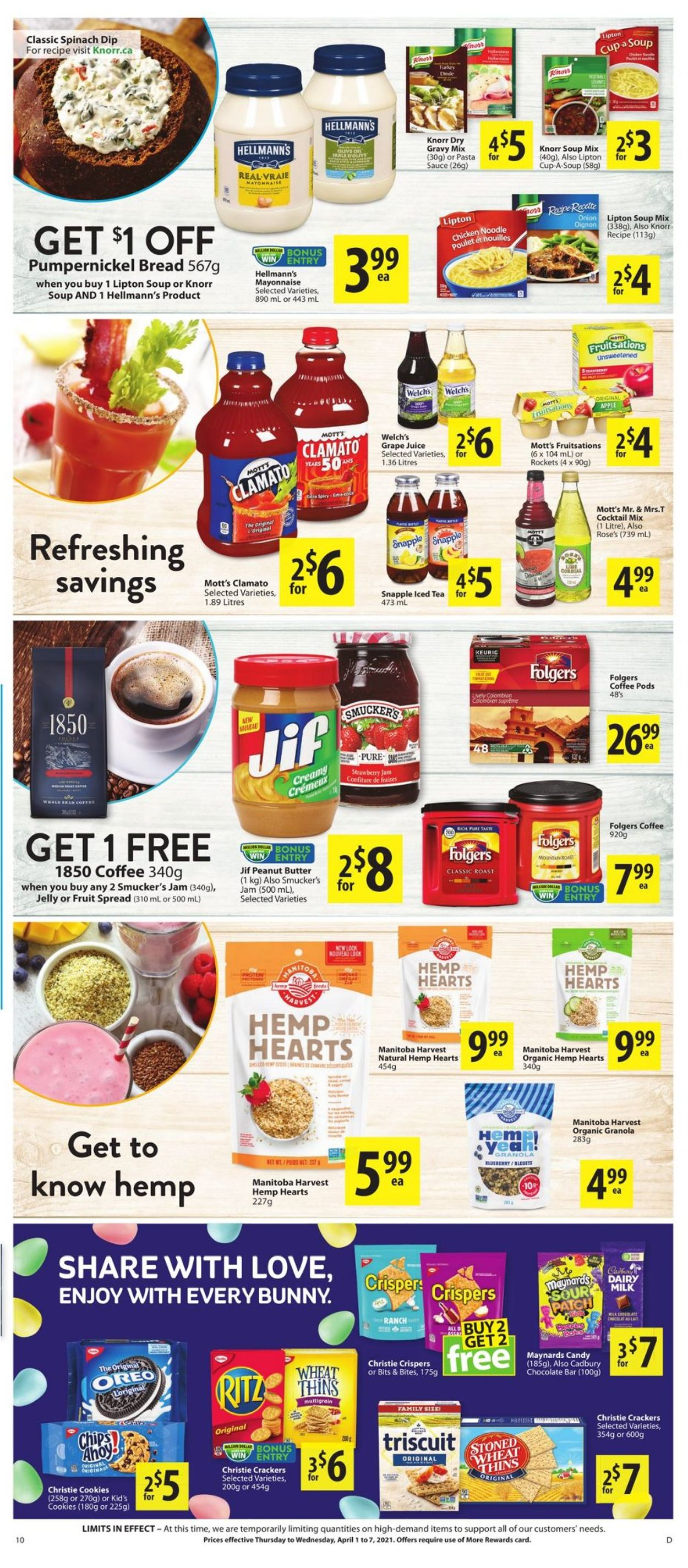 Save-On-Foods Flyer - 04/01-04/07/2021 (Page 10)