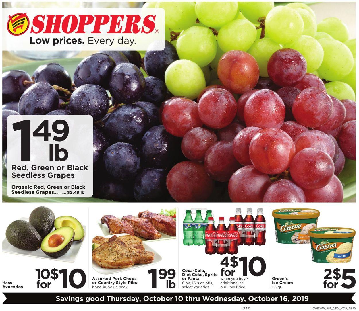 Shoppers Flyer - 10/10-10/16/2019