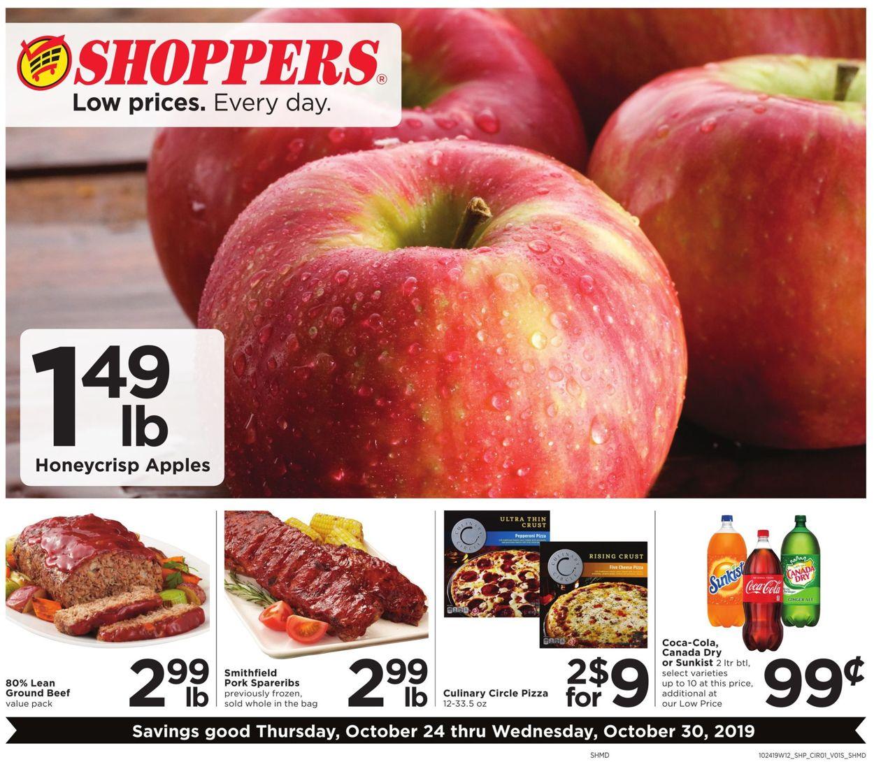 Shoppers Flyer - 10/24-10/30/2019