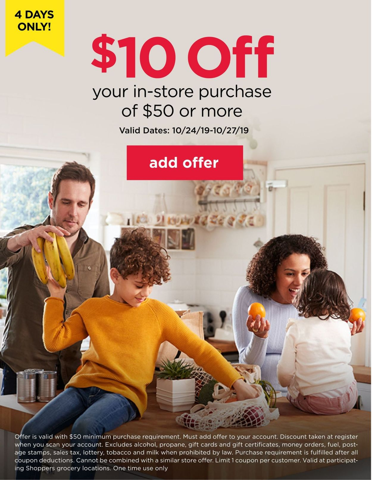 Shoppers Flyer - 10/24-10/27/2019