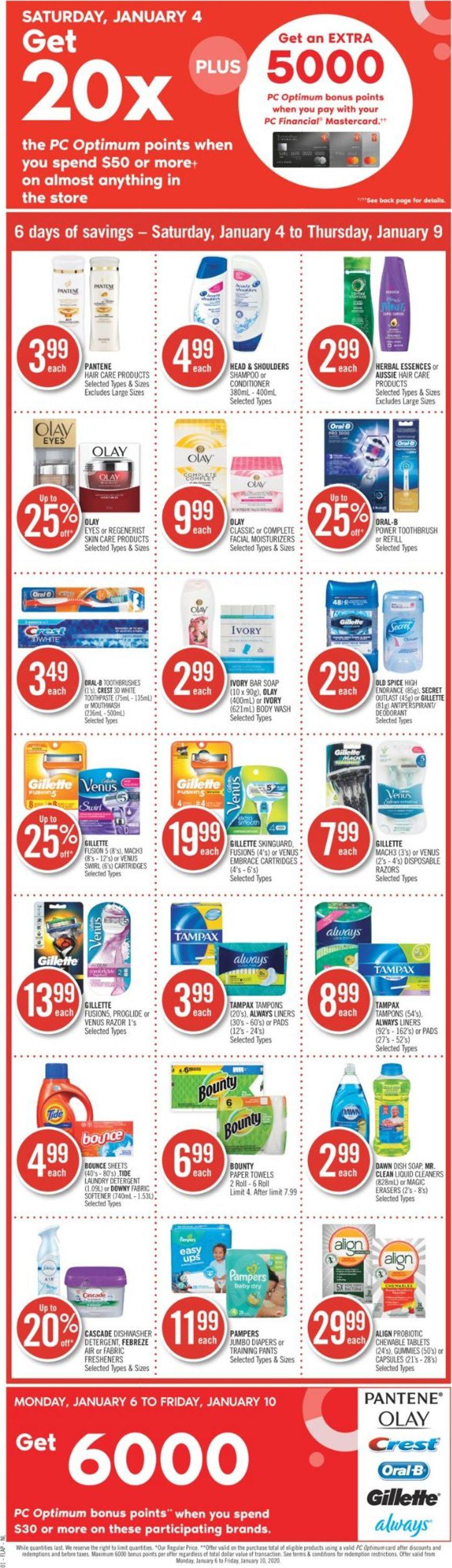 Shoppers Flyer - 01/04-01/09/2020