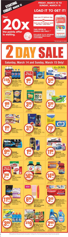Shoppers Flyer - 03/14-03/20/2020