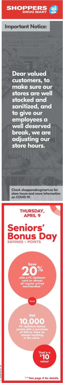 Shoppers Flyer - 04/04-04/10/2020