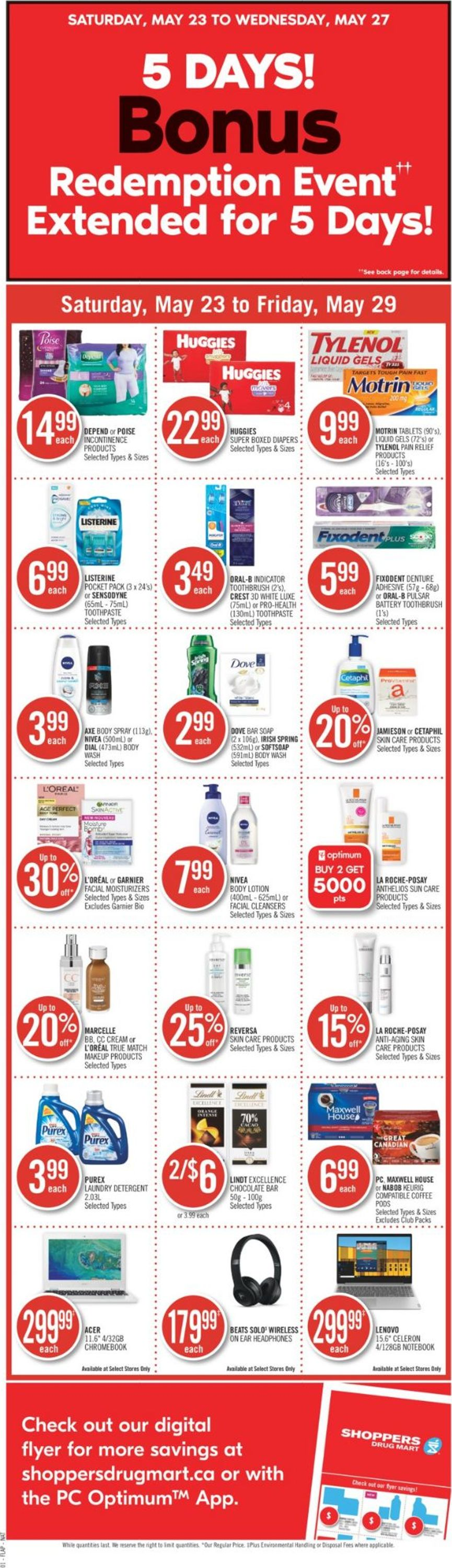 Shoppers Flyer - 05/23-05/29/2020