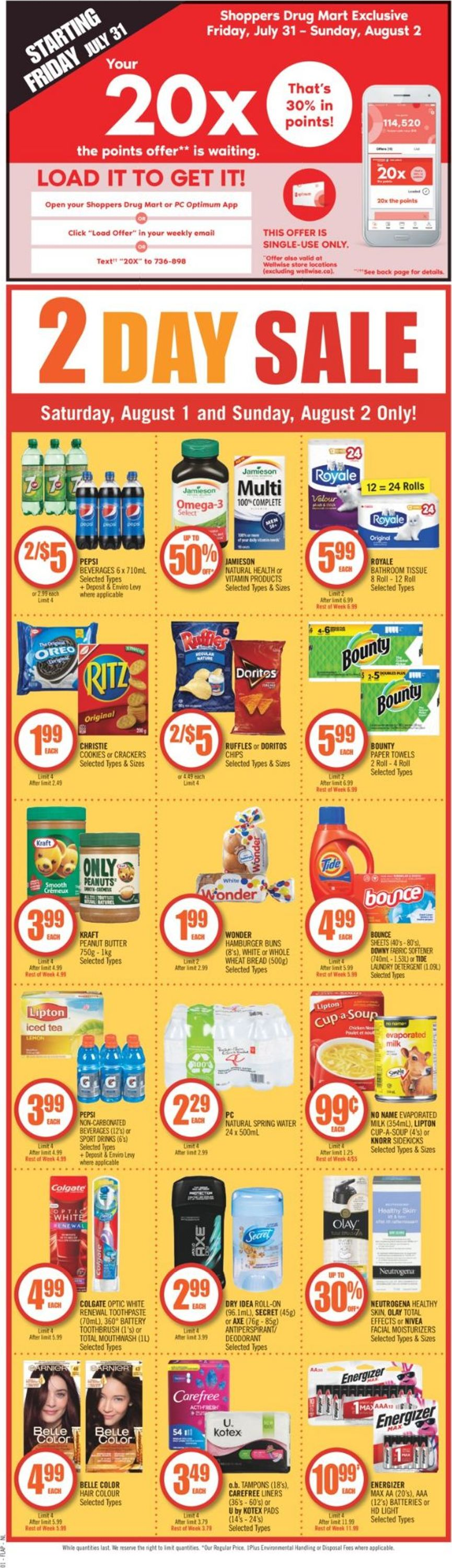 Shoppers Flyer - 07/31-08/07/2020