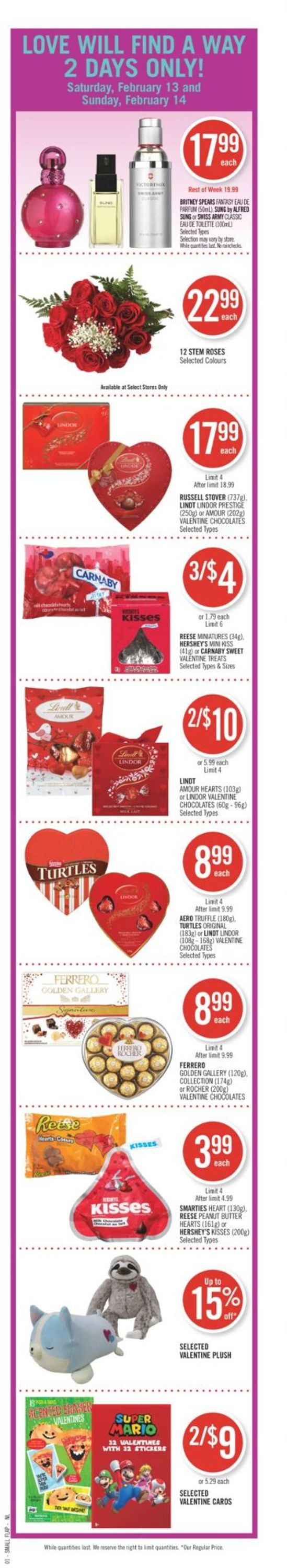 Shoppers - Valentine's Day Flyer - 02/13-02/18/2021