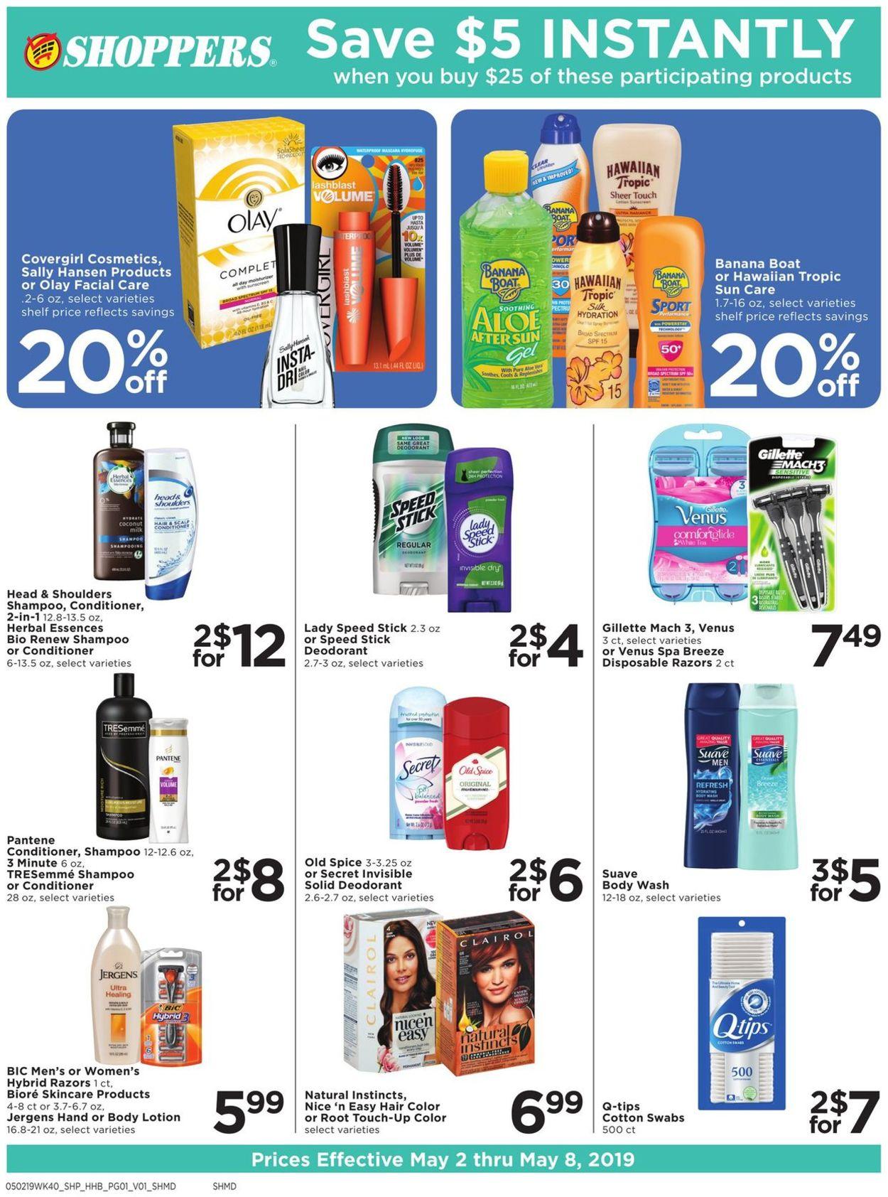 Shoppers Flyer - 05/02-05/08/2019