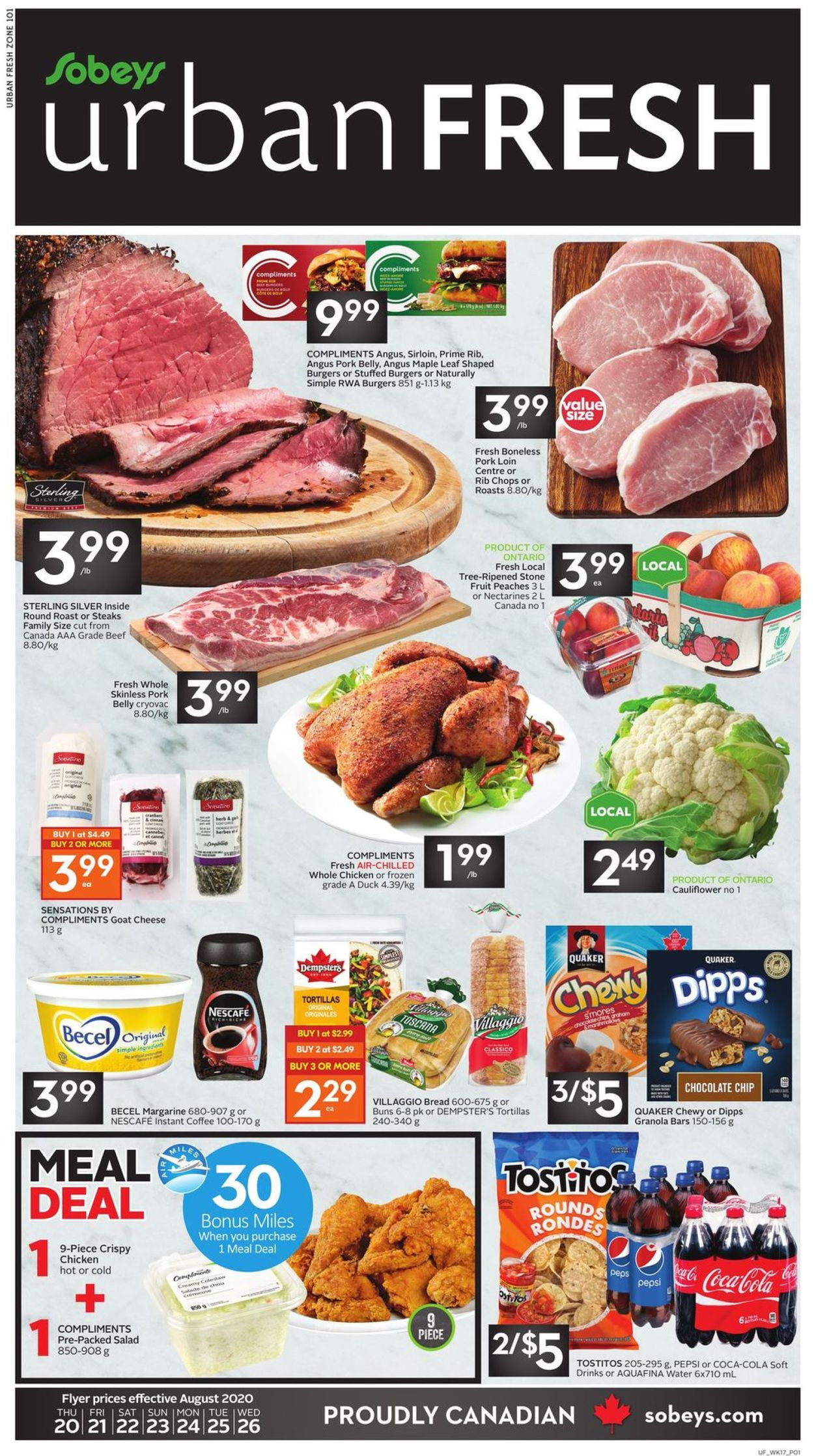 Sobeys Flyer - 08/20-08/26/2020