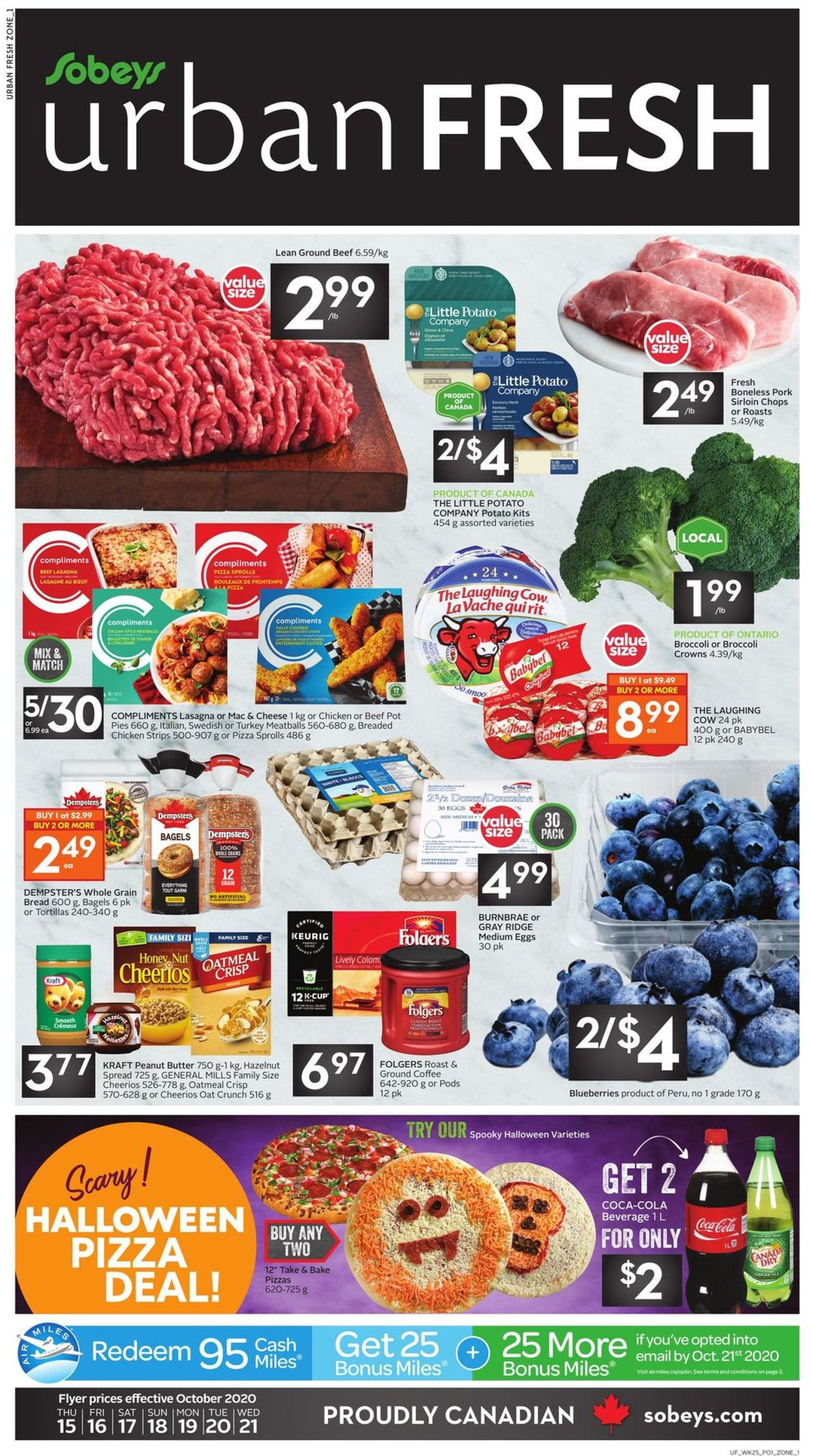 Sobeys Flyer - 10/15-10/21/2020
