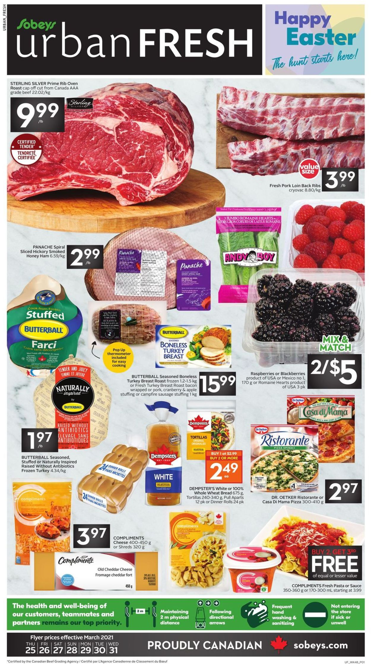 Sobeys Flyer - 03/25-03/31/2021