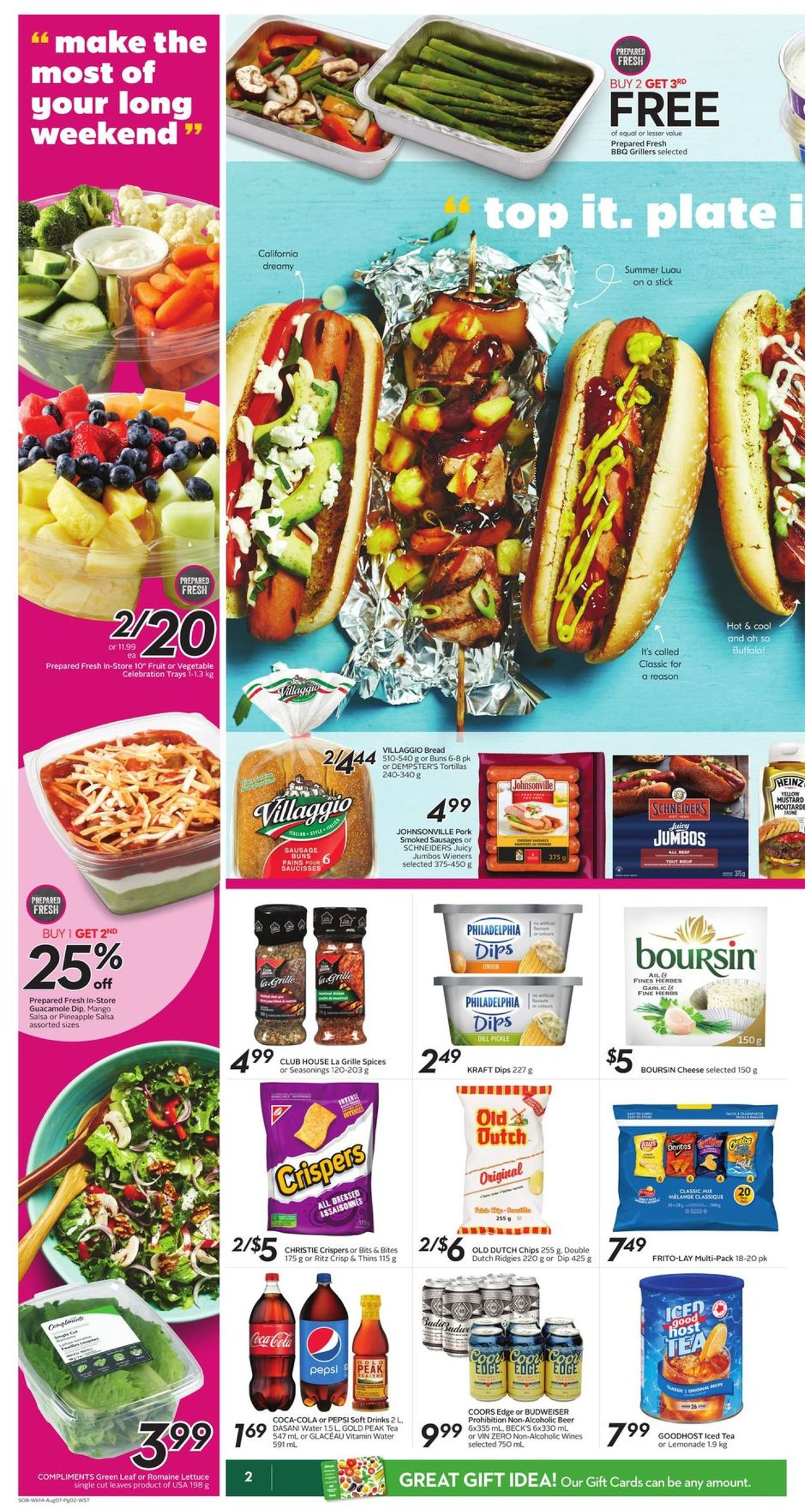 Sobeys Flyer - 08/01-08/07/2019 (Page 2)