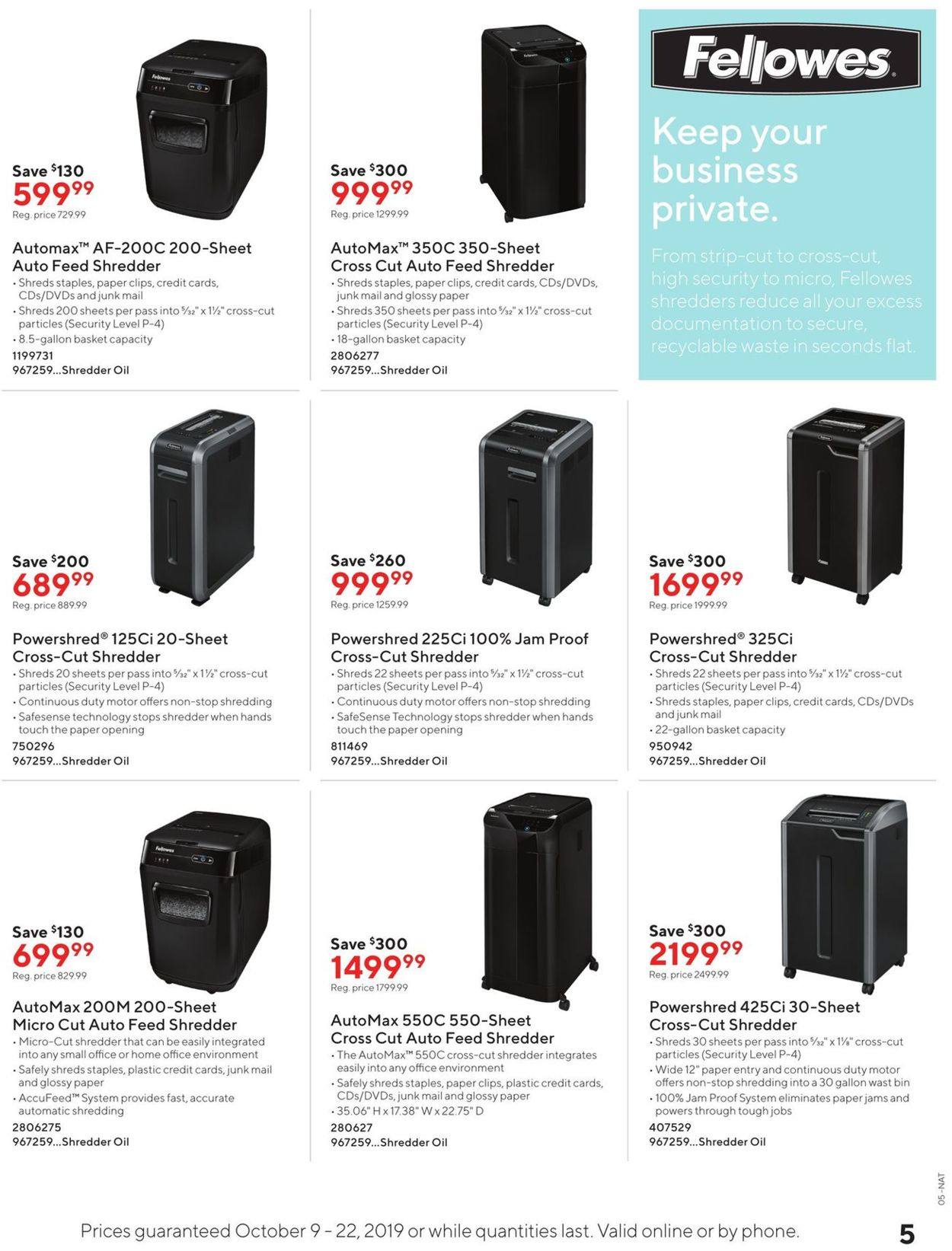 Staples Flyer - 10/09-10/22/2019 (Page 5)