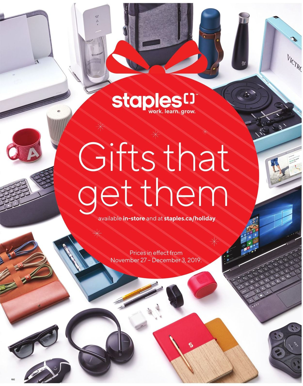 Staples HOLIDAY FLYER 2019 Flyer - 11/27-12/03/2019