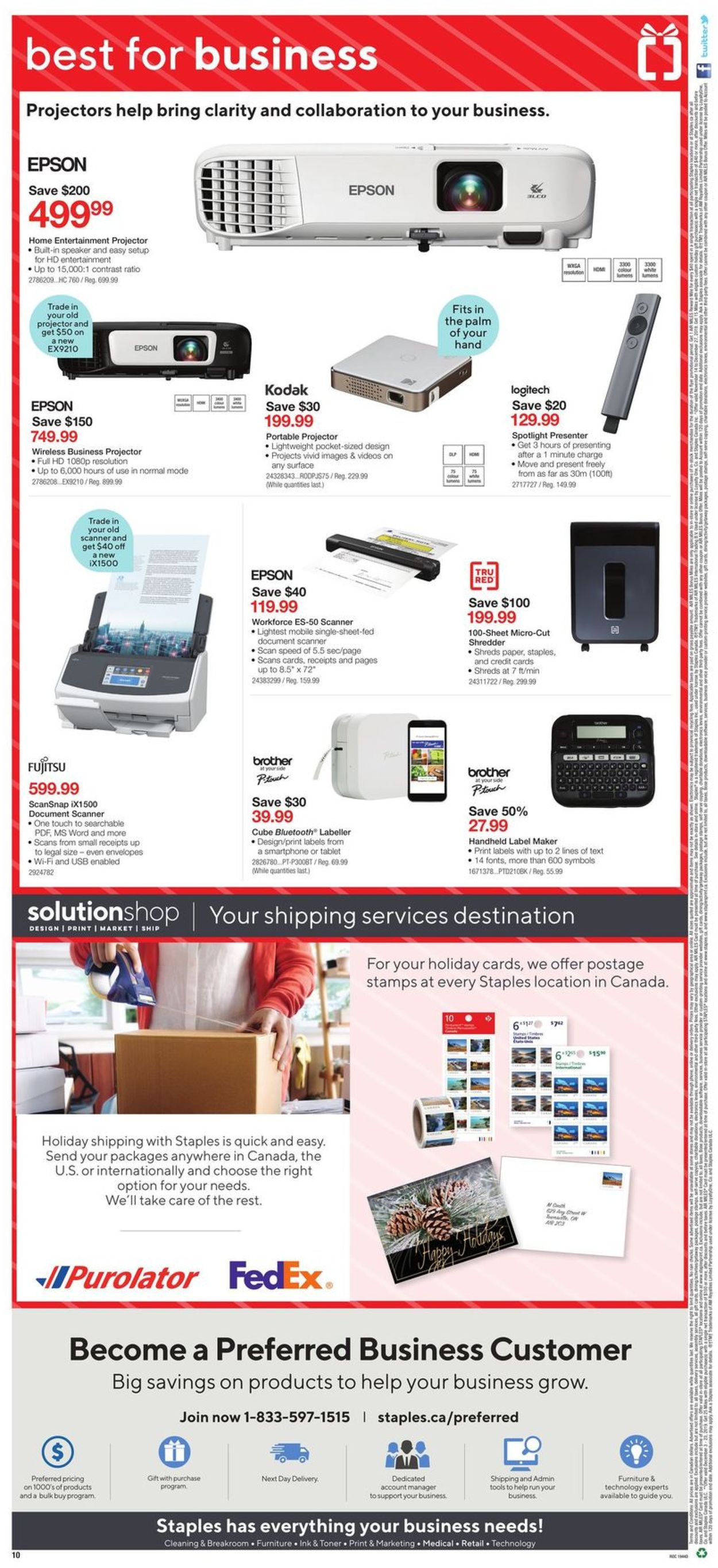 Staples HOLIDAY FLYER 2019 Flyer - 12/04-12/10/2019 (Page 11)