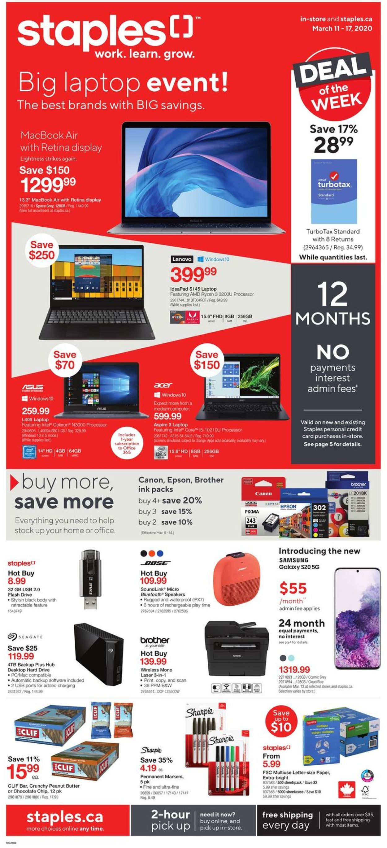 Staples Flyer - 03/11-03/17/2020