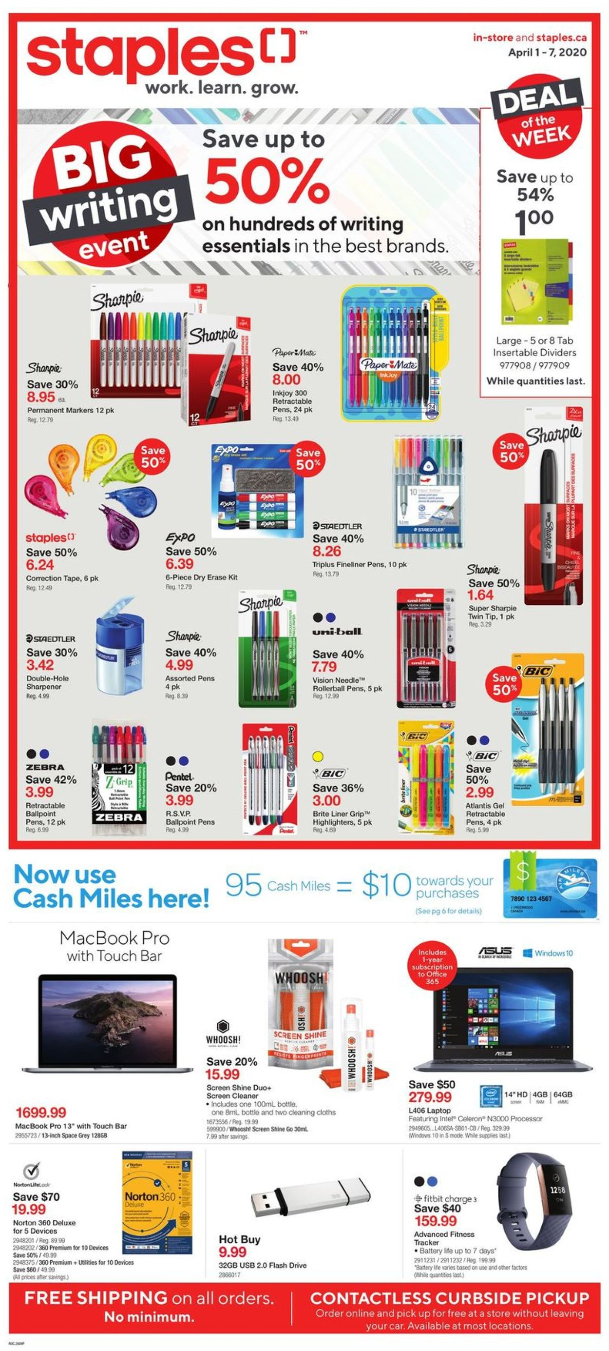 Staples Flyer - 04/01-04/07/2020