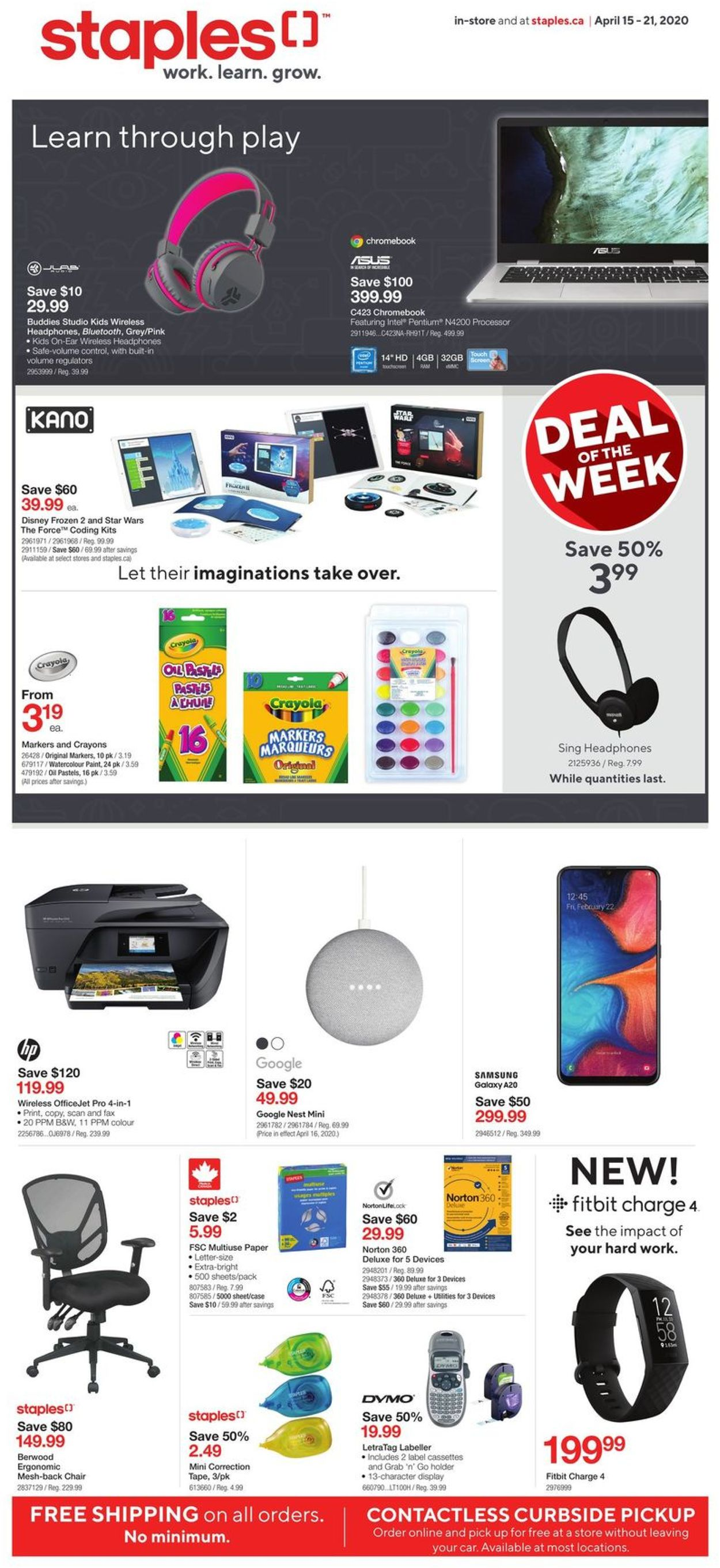 Staples Flyer - 04/15-04/21/2020