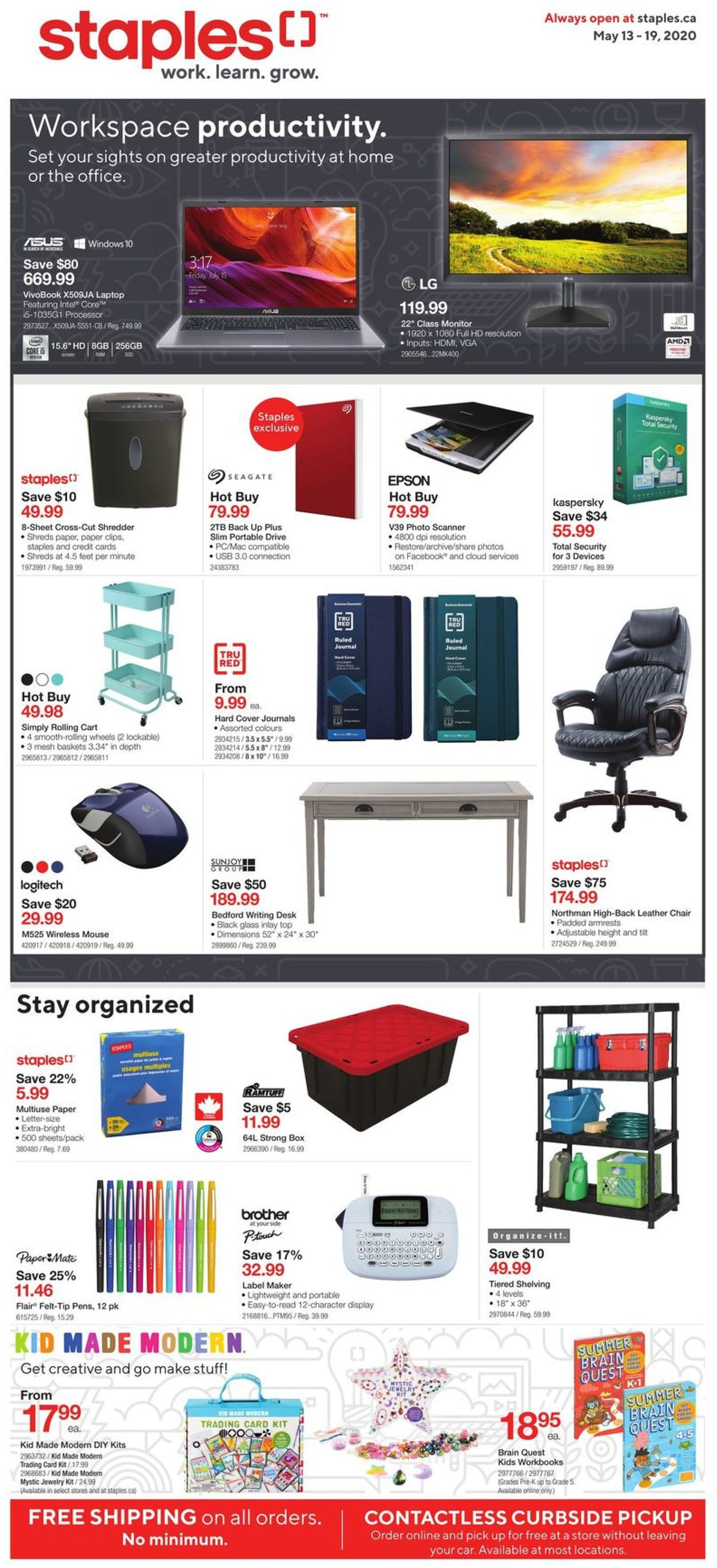 Staples Flyer - 05/13-05/19/2020