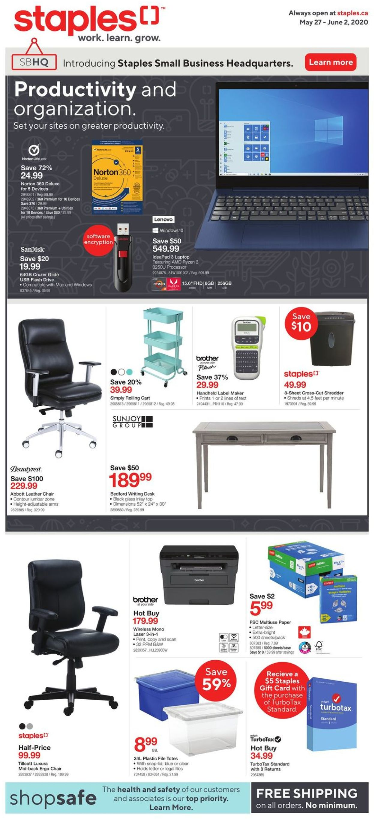 Staples Flyer - 05/27-06/02/2020