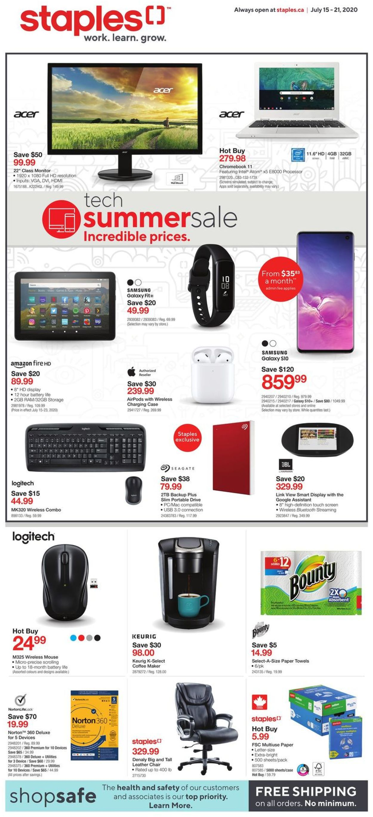 Staples Flyer - 07/15-07/21/2020