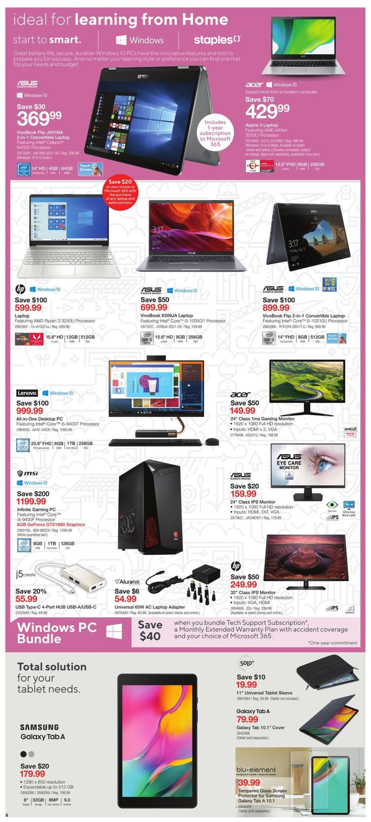 Staples Flyer - 08/05-08/11/2020 (Page 6)