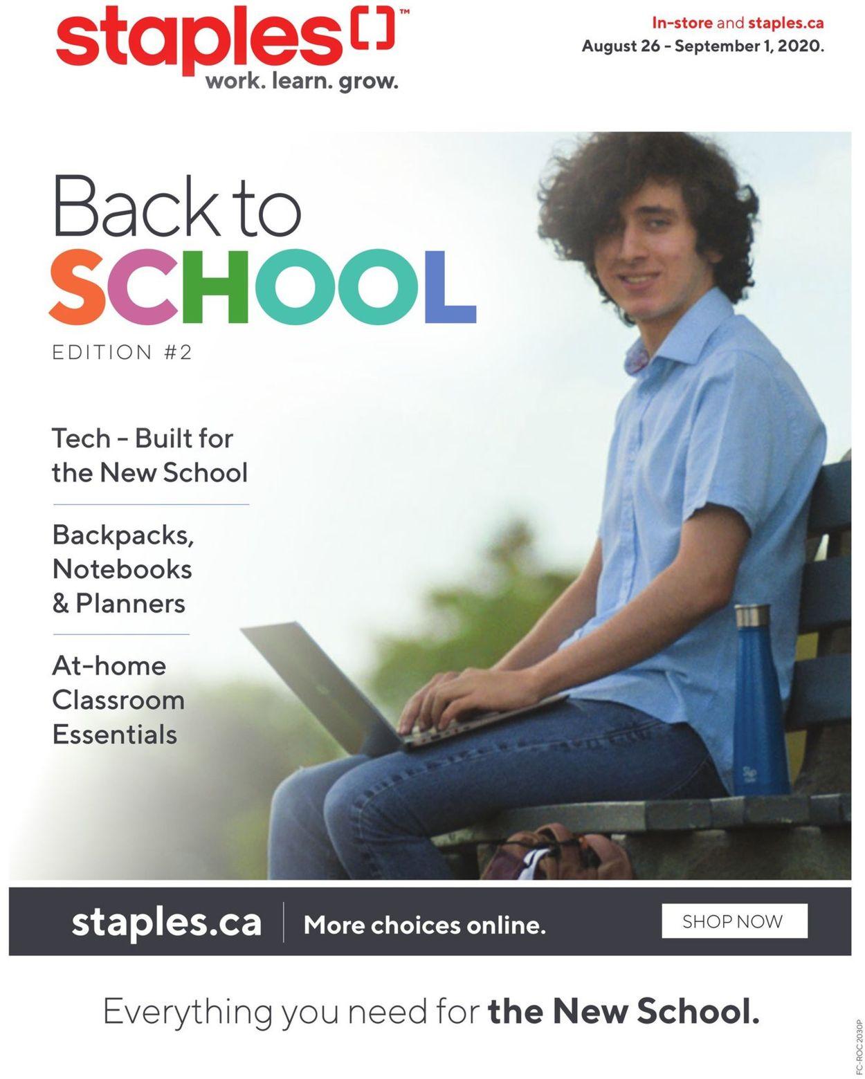Staples Flyer - 08/26-09/01/2020