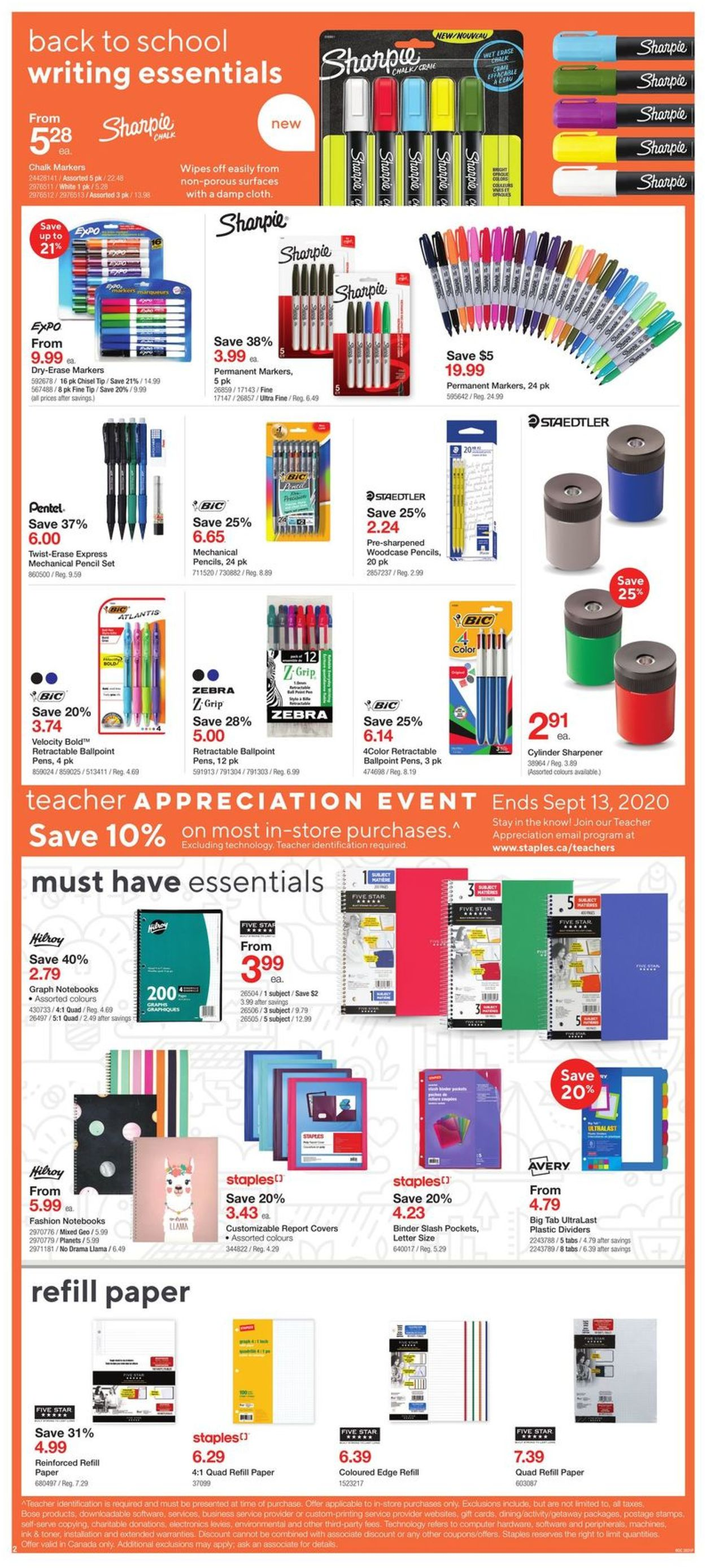 Staples Flyer - 09/02-09/08/2020 (Page 2)