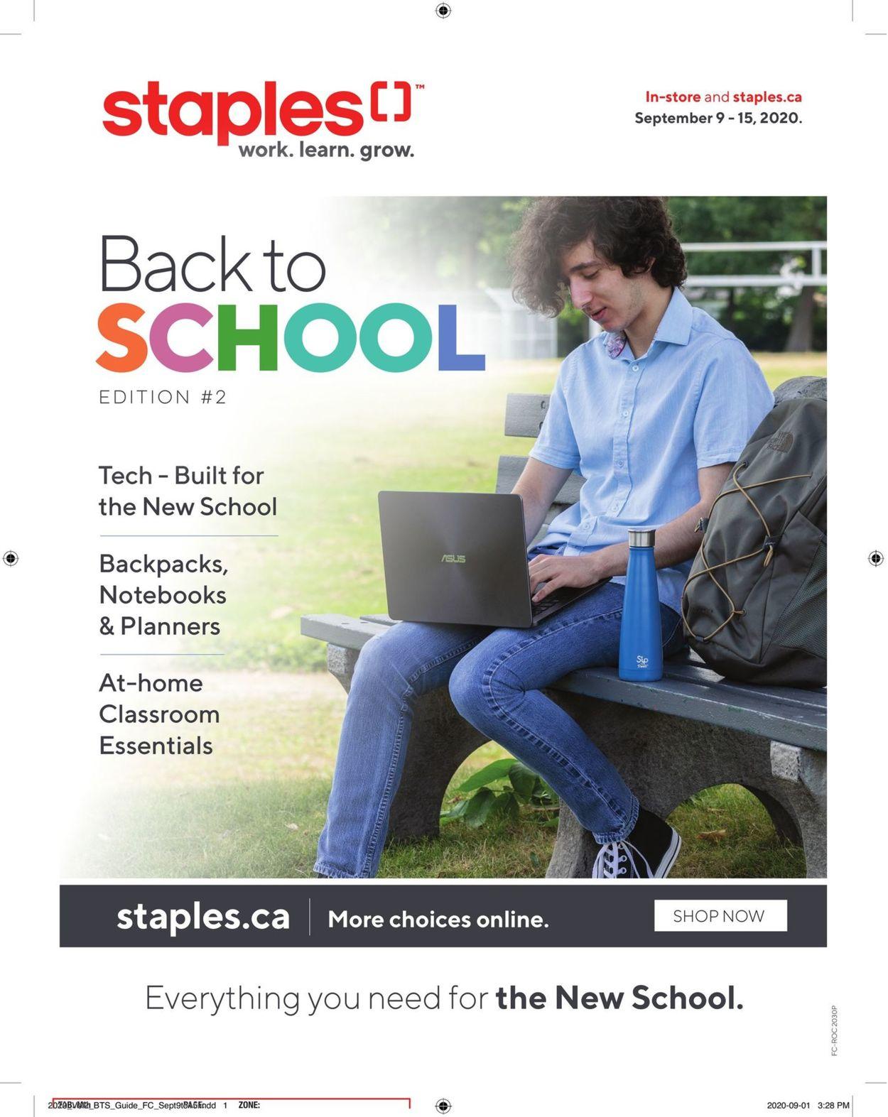 Staples Flyer - 09/09-09/15/2020