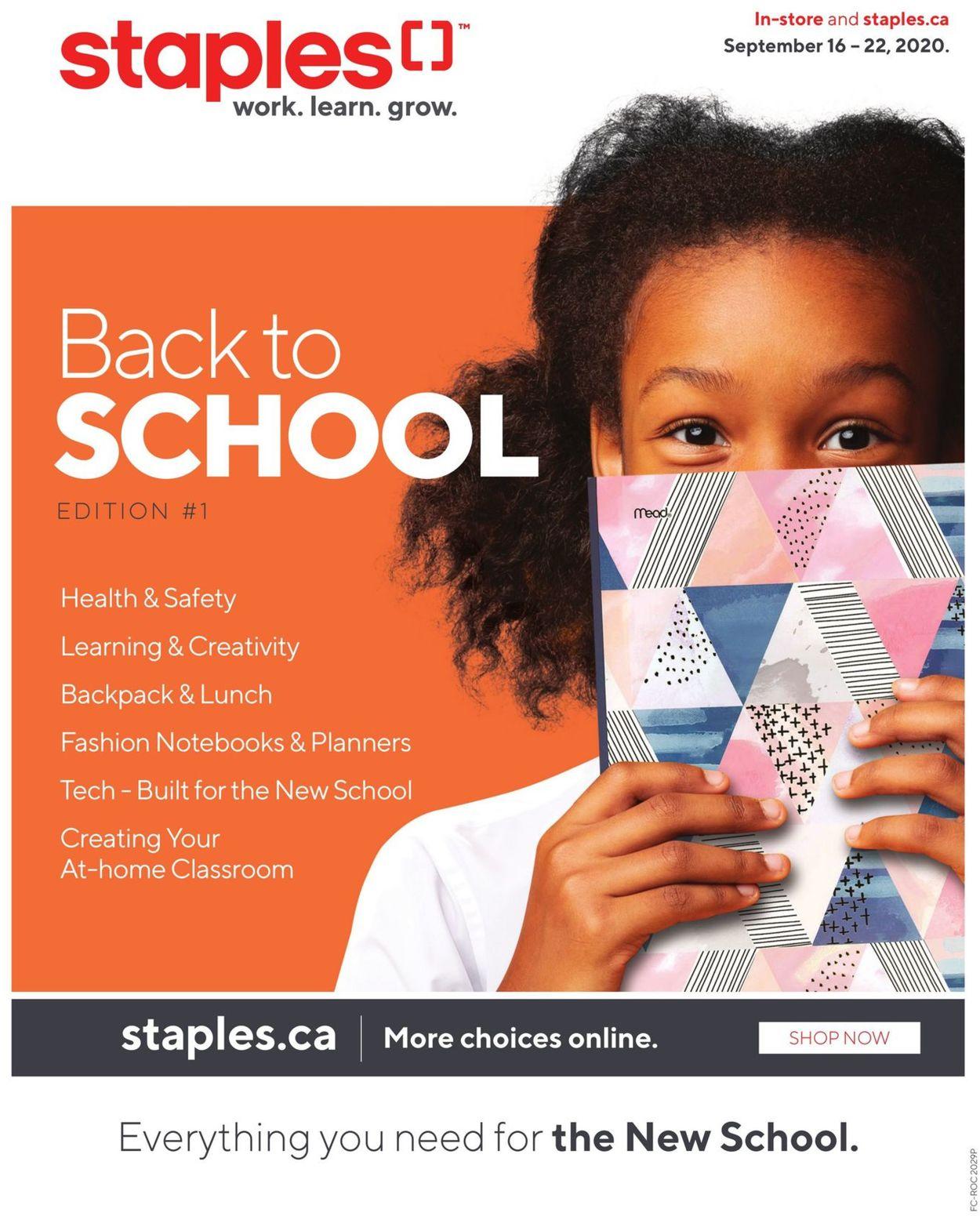 Staples Flyer - 09/16-09/22/2020