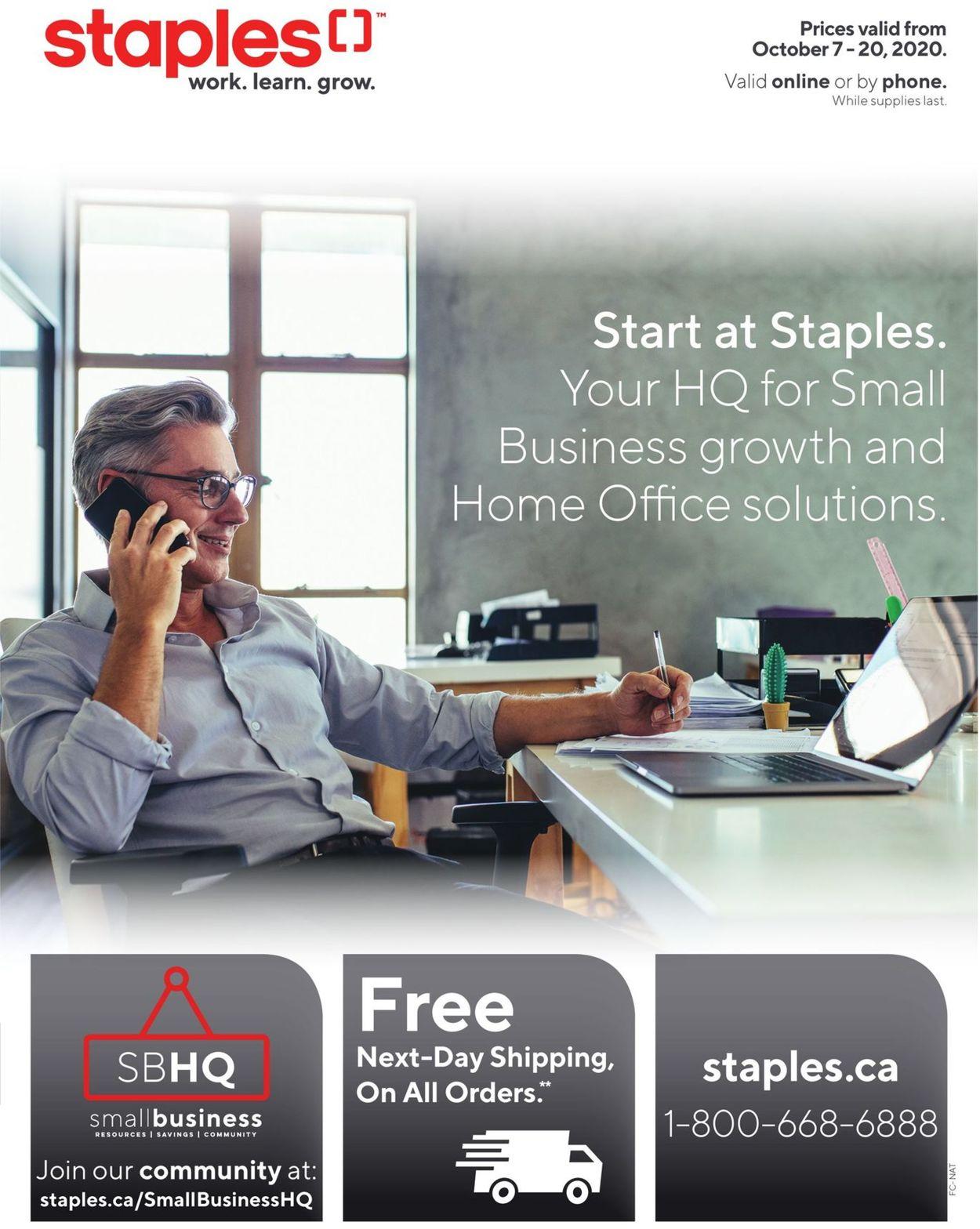 Staples Flyer - 10/07-10/20/2020