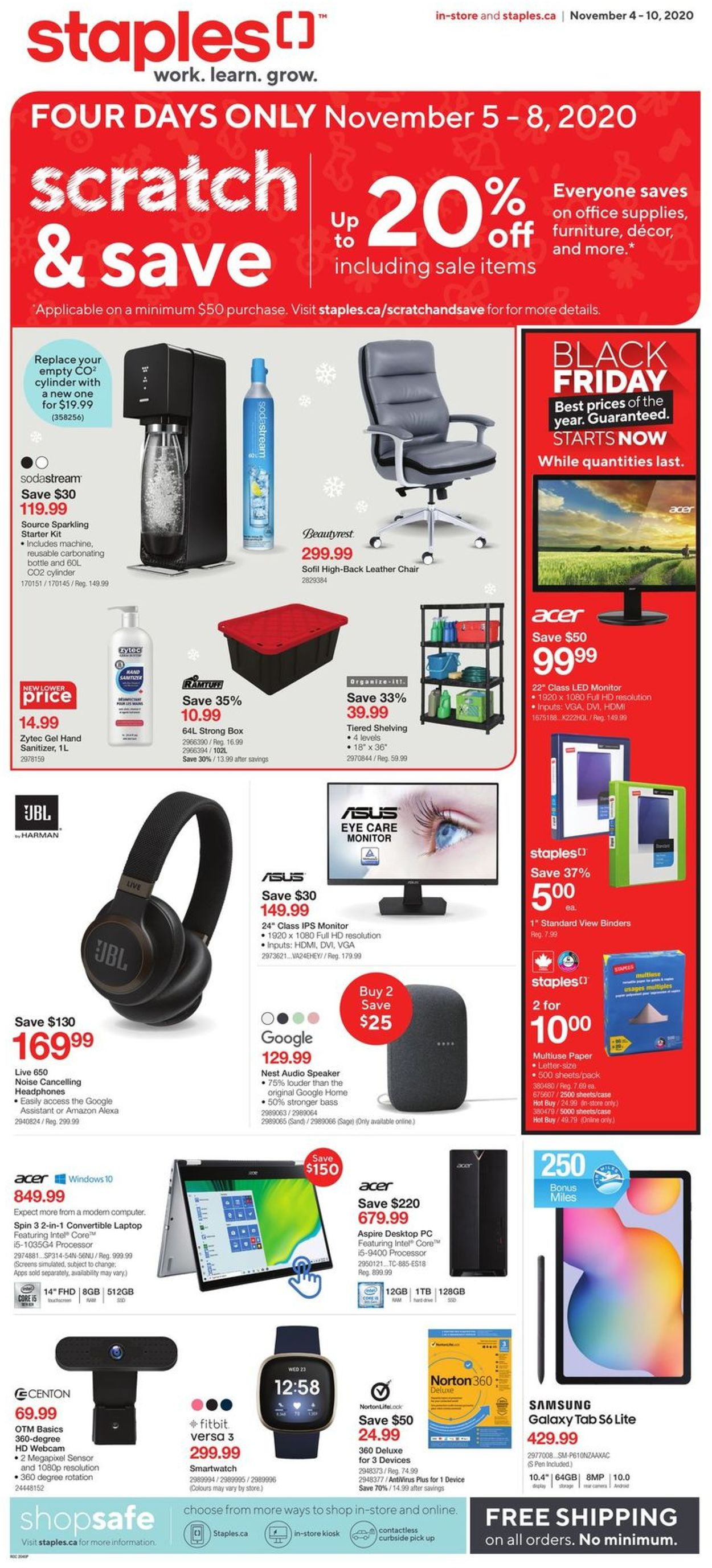 Staples - Holiday Gift Guide 2020 Flyer - 11/04-11/10/2020