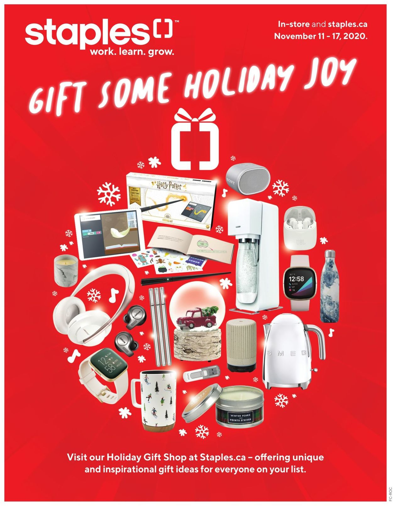 Staples - Holiday Gift Guide 2020 Flyer - 11/11-11/17/2020