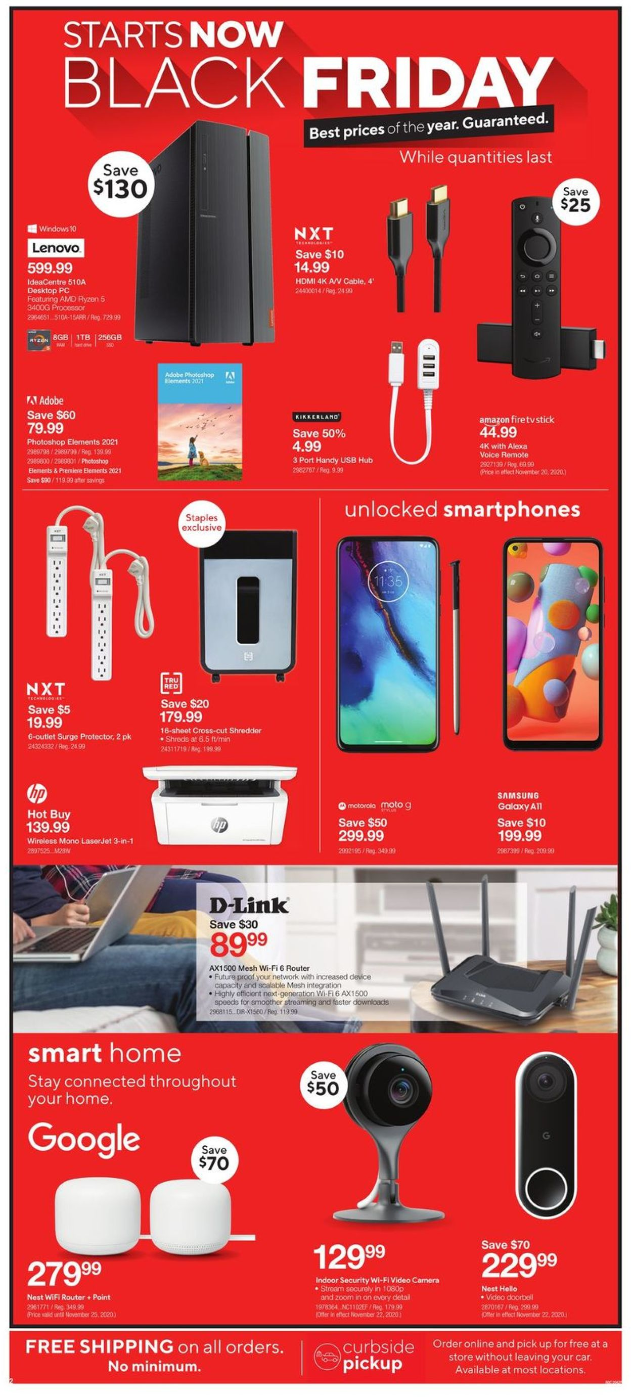 Staples - Black Friday 2020 Flyer - 11/18-11/26/2020 (Page 2)