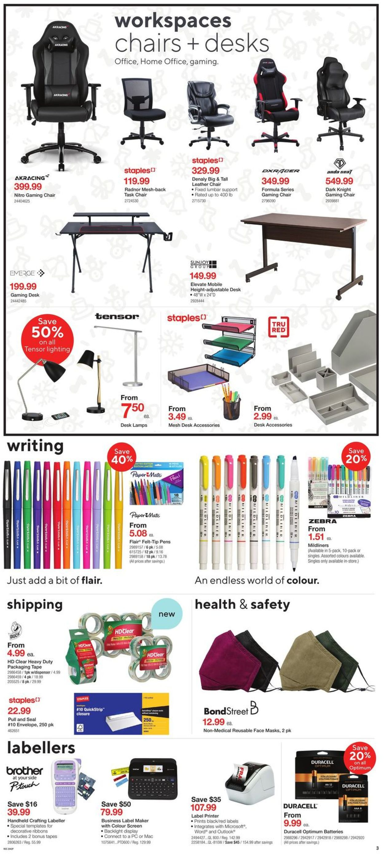 Staples - Black Friday 2020 Flyer - 11/18-11/26/2020 (Page 3)