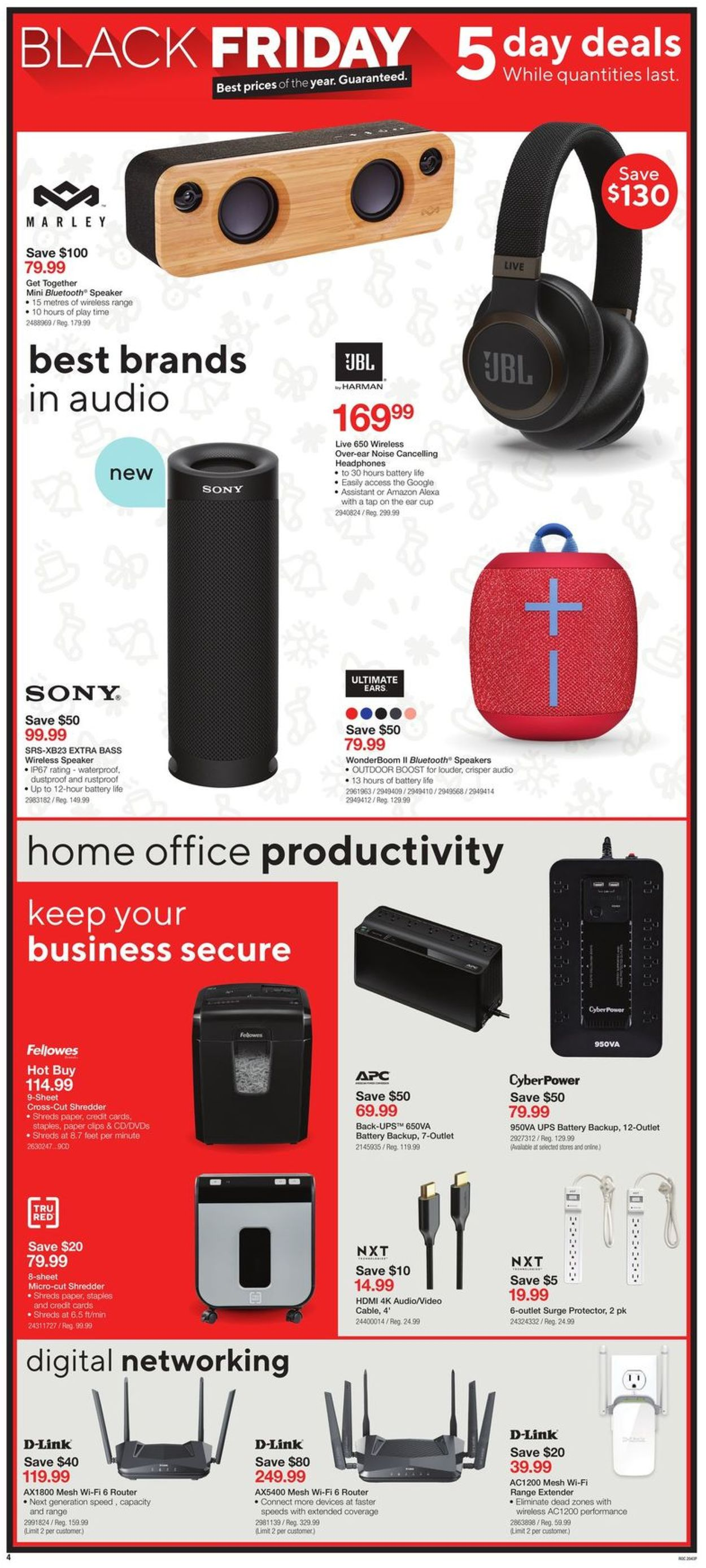 Staples - Black Friday 2020 Flyer - 11/27-12/01/2020 (Page 4)