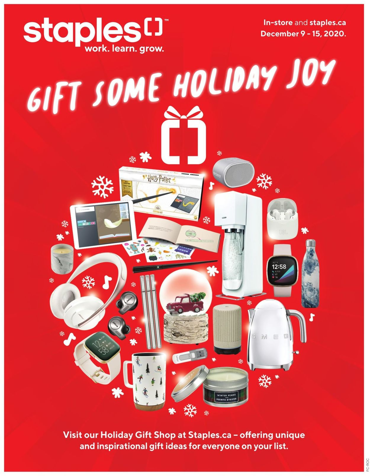 Staples - Holiday 2020 Flyer - 12/09-12/15/2020