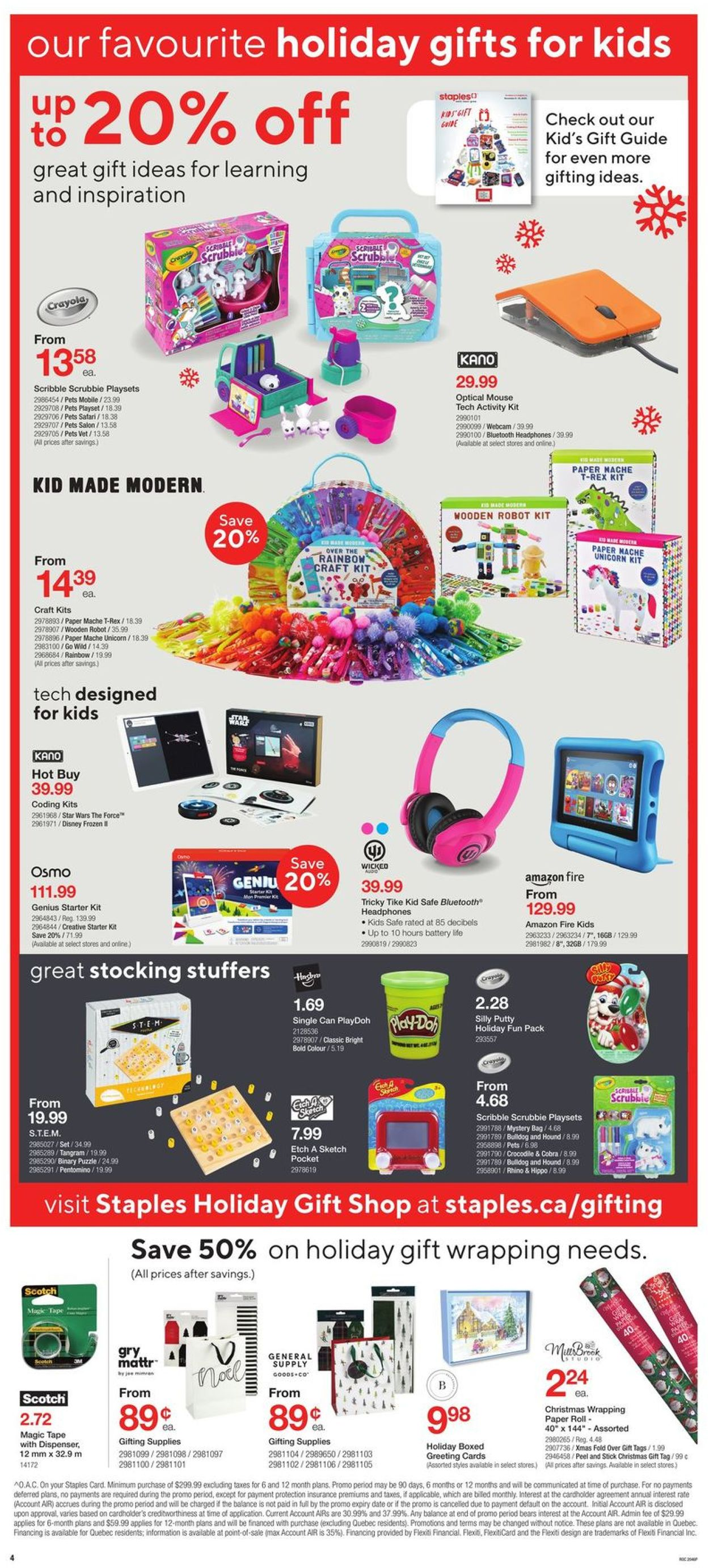 Staples - Holiday 2020 Flyer - 12/16-12/24/2020 (Page 4)