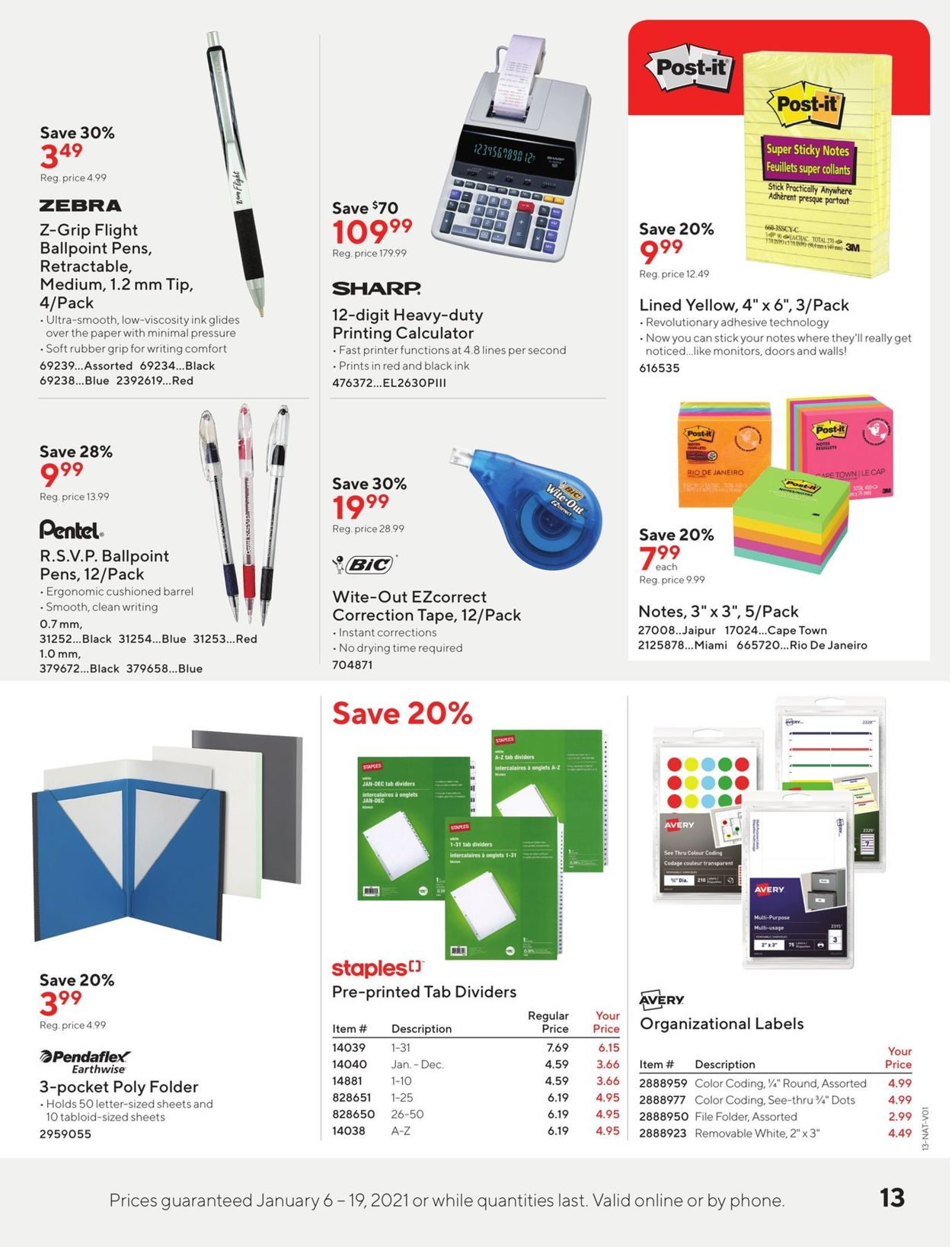 Staples Flyer - 01/06-01/19/2021 (Page 13)