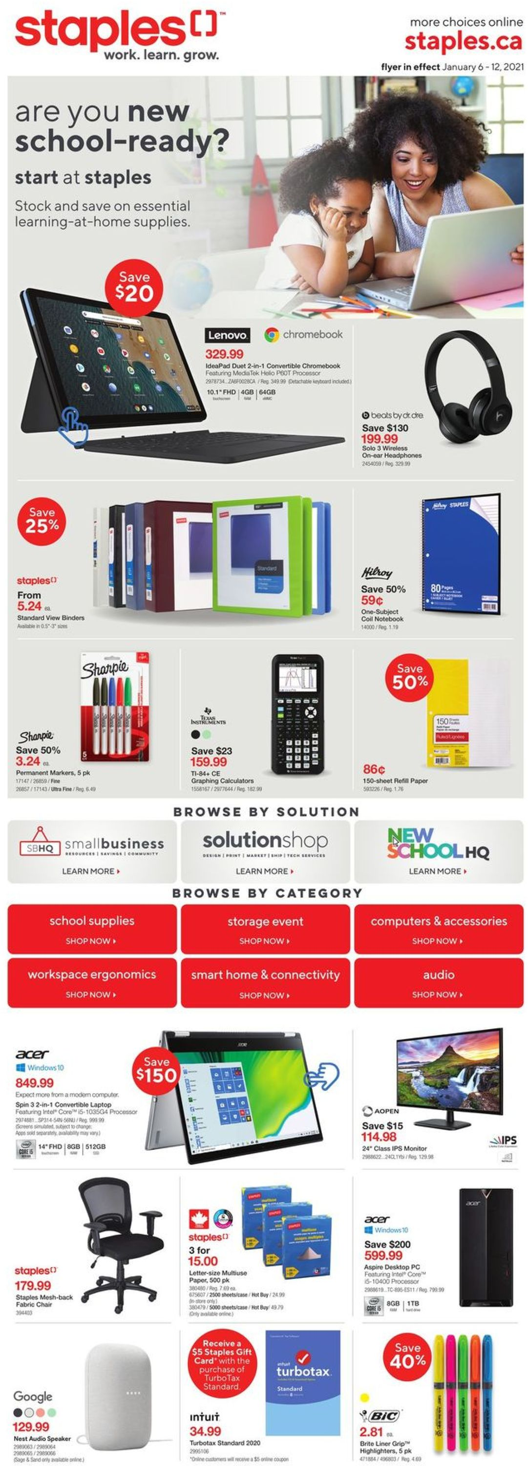 Staples Flyer - 01/06-01/12/2021