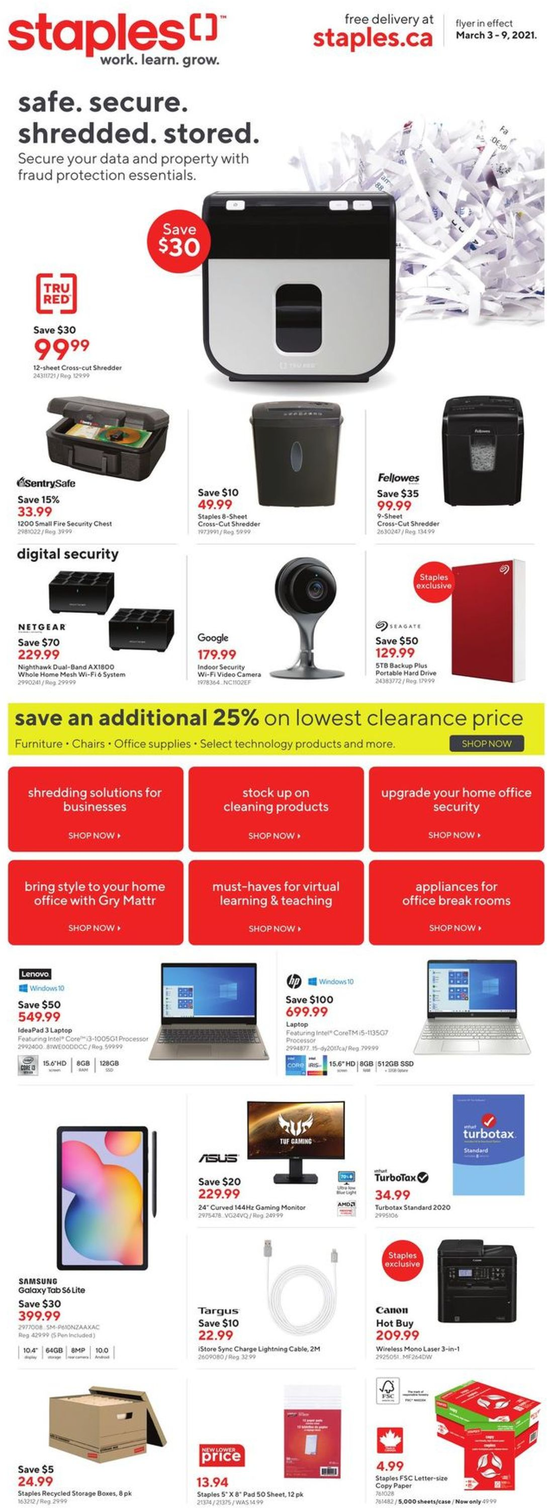 Staples Flyer - 03/03-03/09/2021